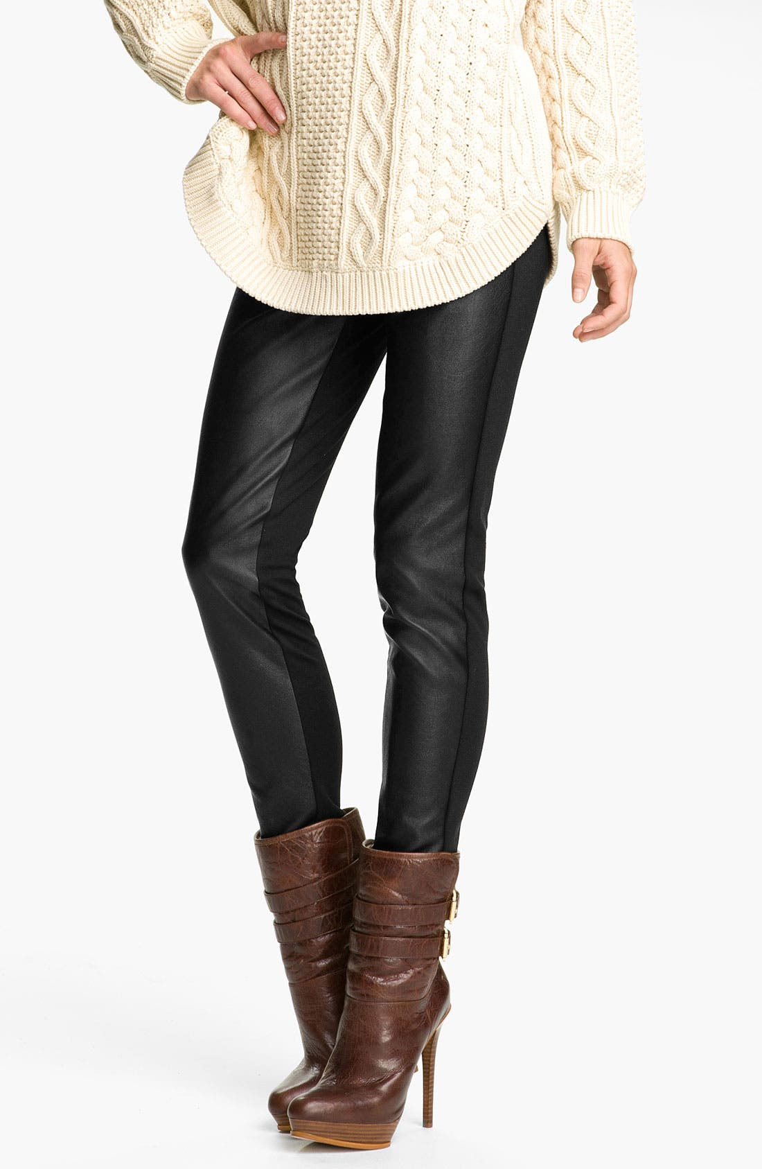 Alternate Image 1 Selected - MICHAEL Michael Kors Mixed Media Leggings