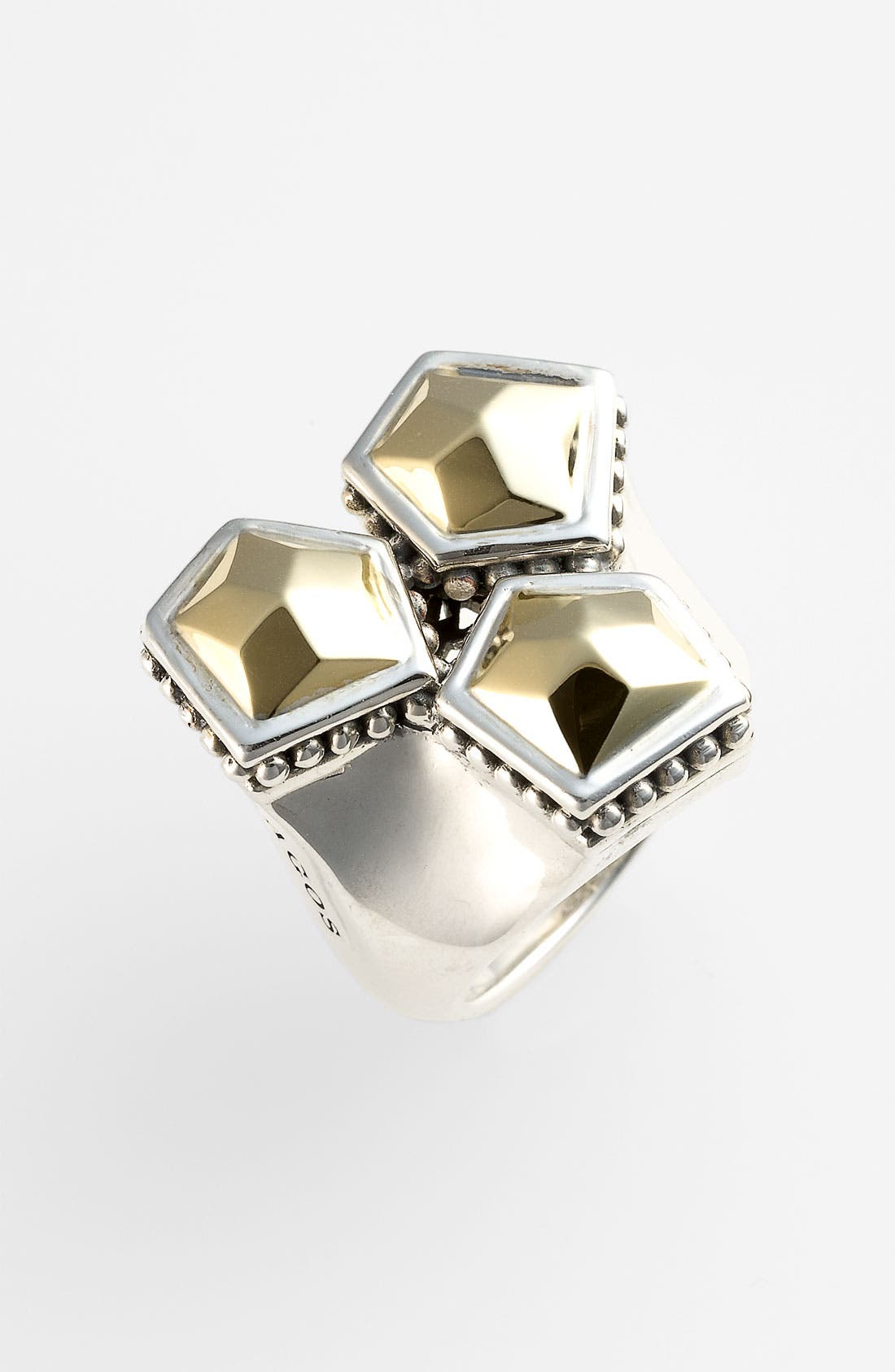 Main Image - LAGOS 'Rocks' Cluster Two Tone Ring
