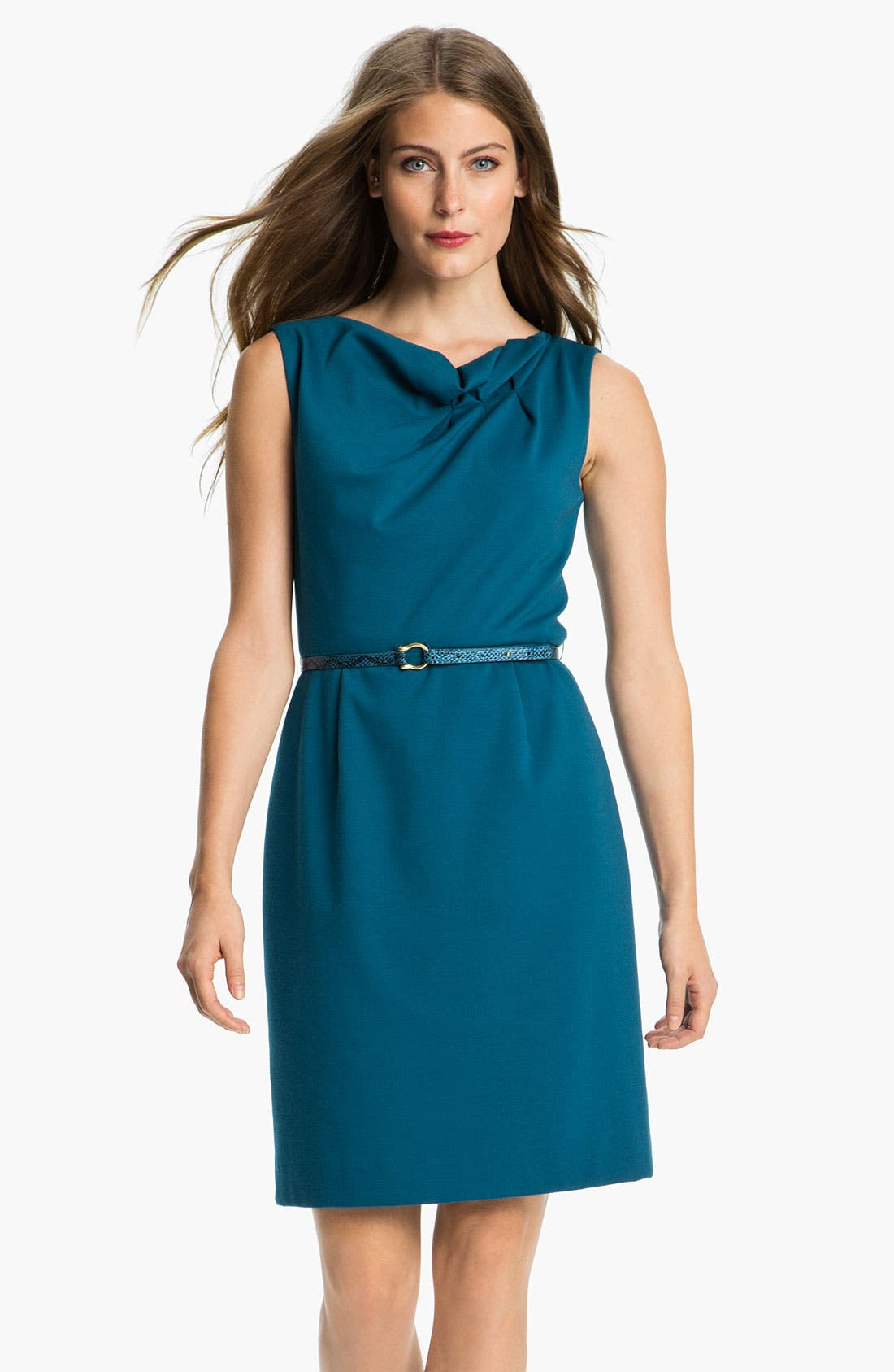 Alternate Image 1 Selected - Tahari by Arthur S. Levine Gathered Neck Ponte Dress
