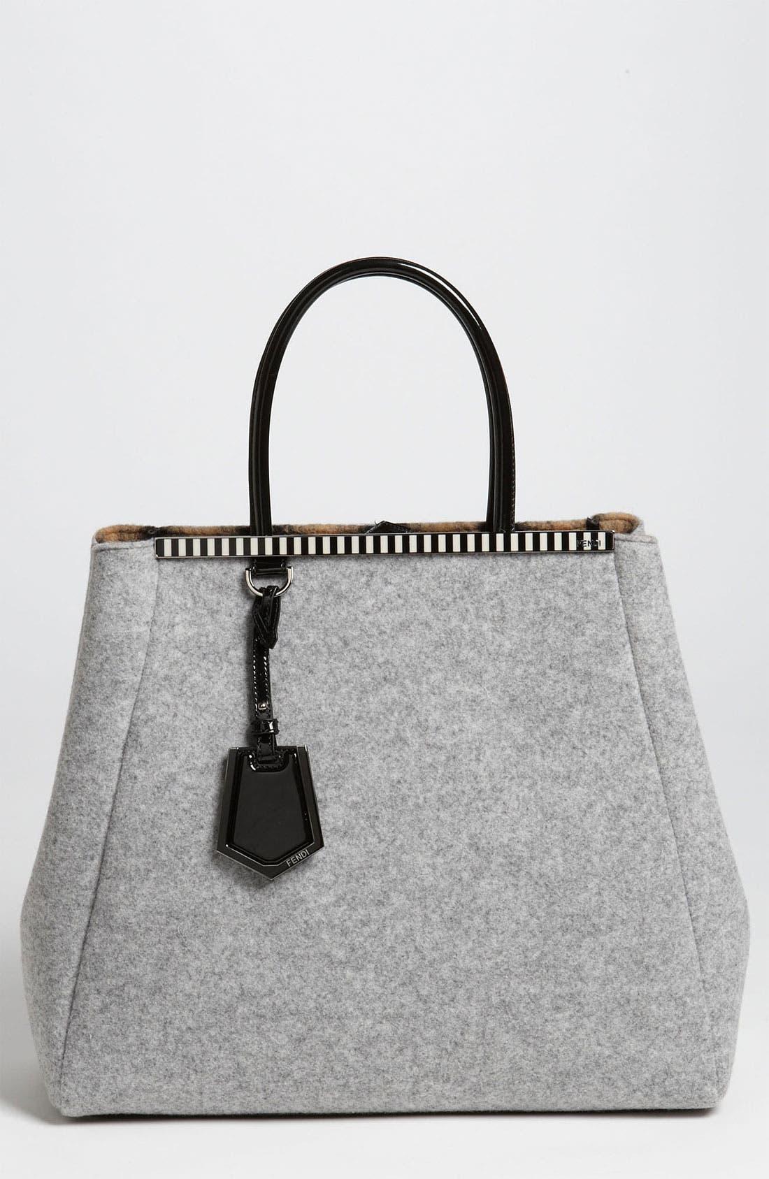 Main Image - Fendi '2Jours - Large' Felted Wool Shopper