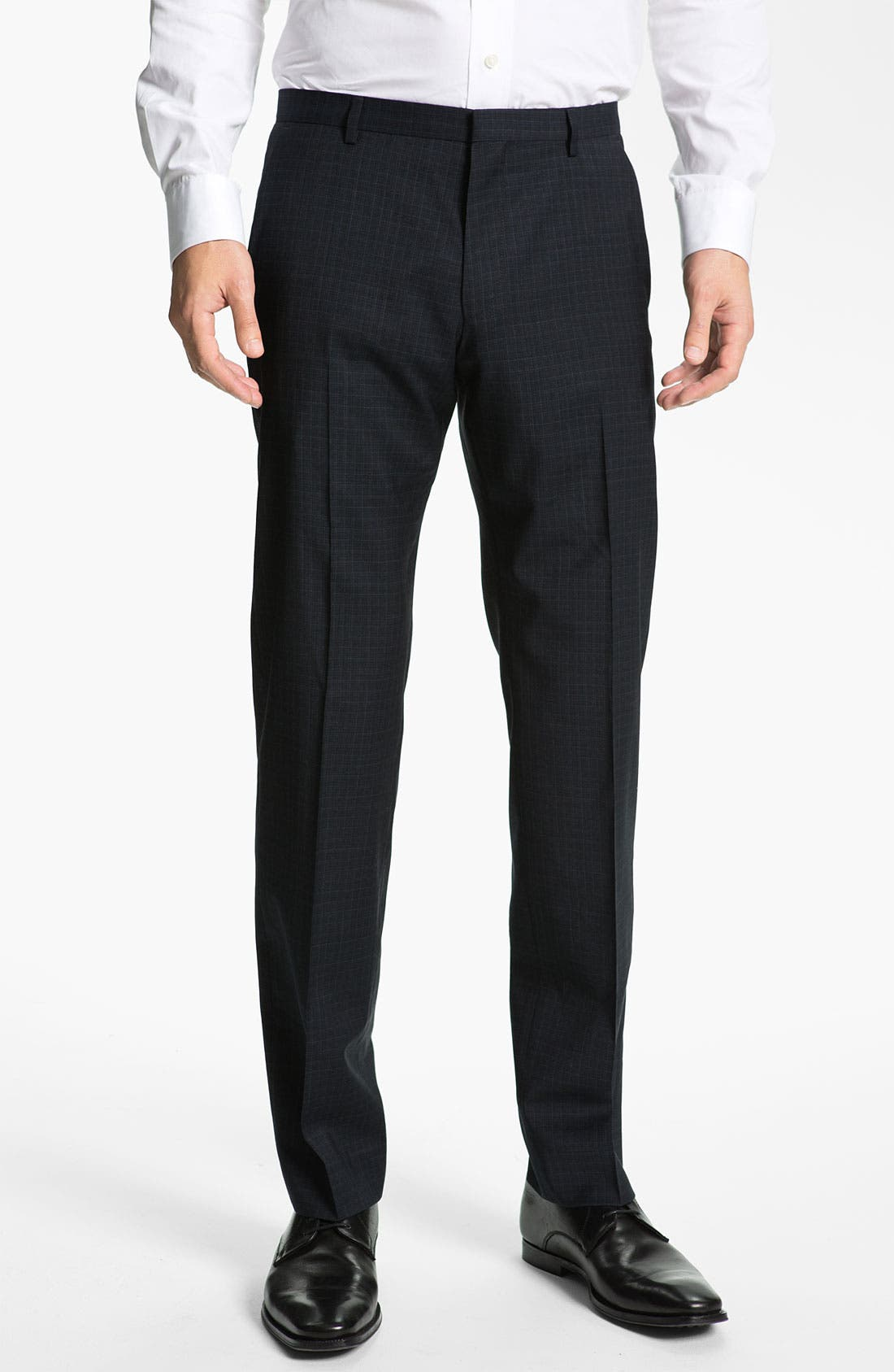 Main Image - HUGO 'Heise' Flat Front Wool Pants (Online Only)