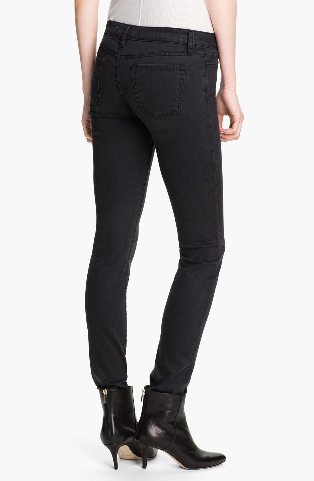Alternate Image 2  - Vince Print Stretch Skinny Jeans (Charcoal Herringbone)
