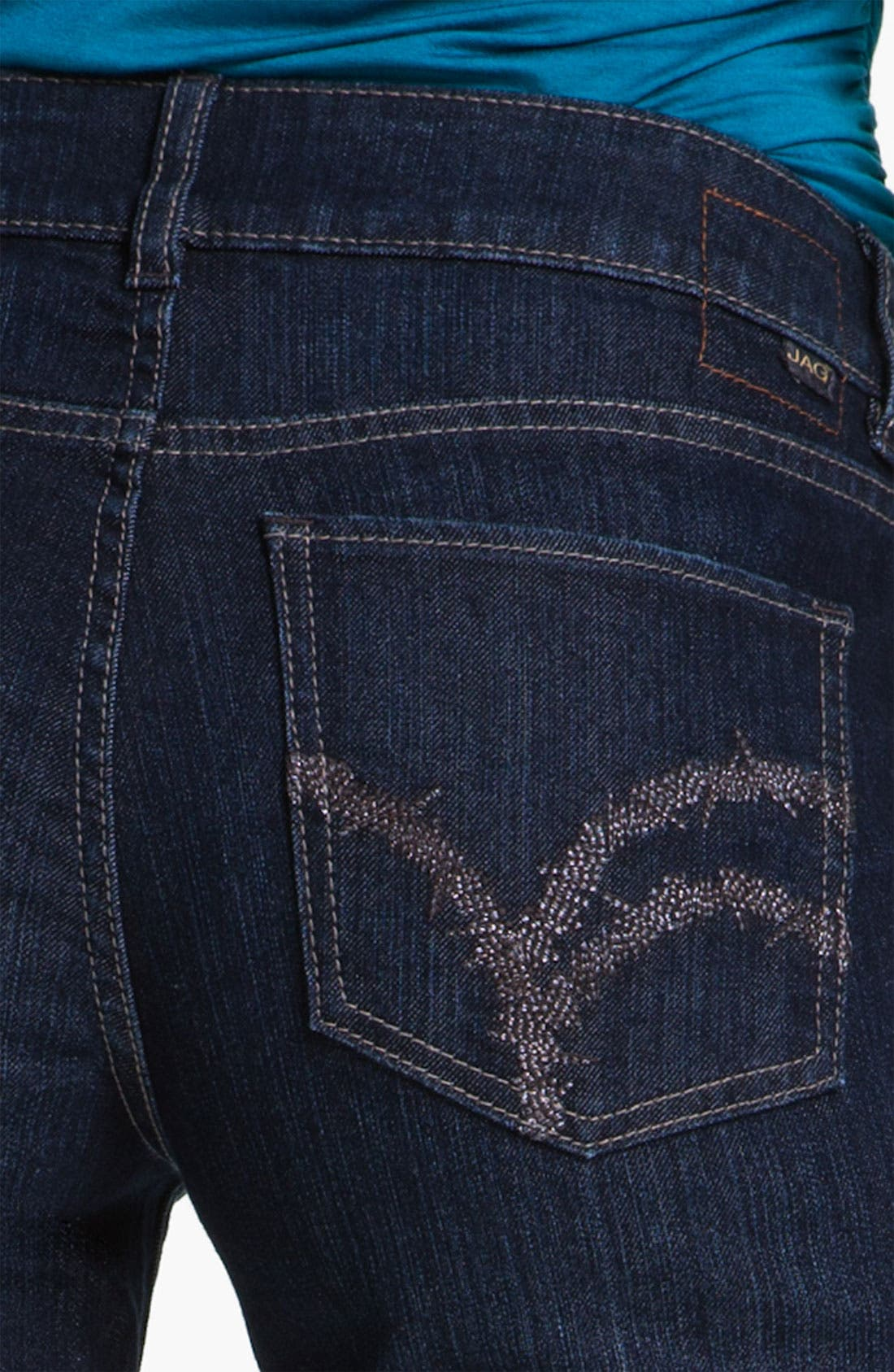 Alternate Image 3  - Jag Jeans 'Eden' Straight Leg Jeans (Indigo) (Petite)