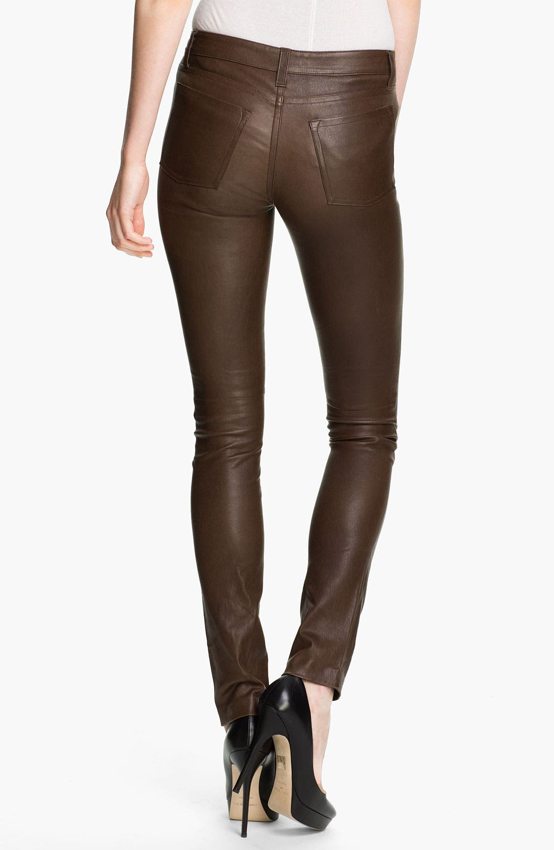 Alternate Image 2  - Vince Skinny Stretch Leather Pants