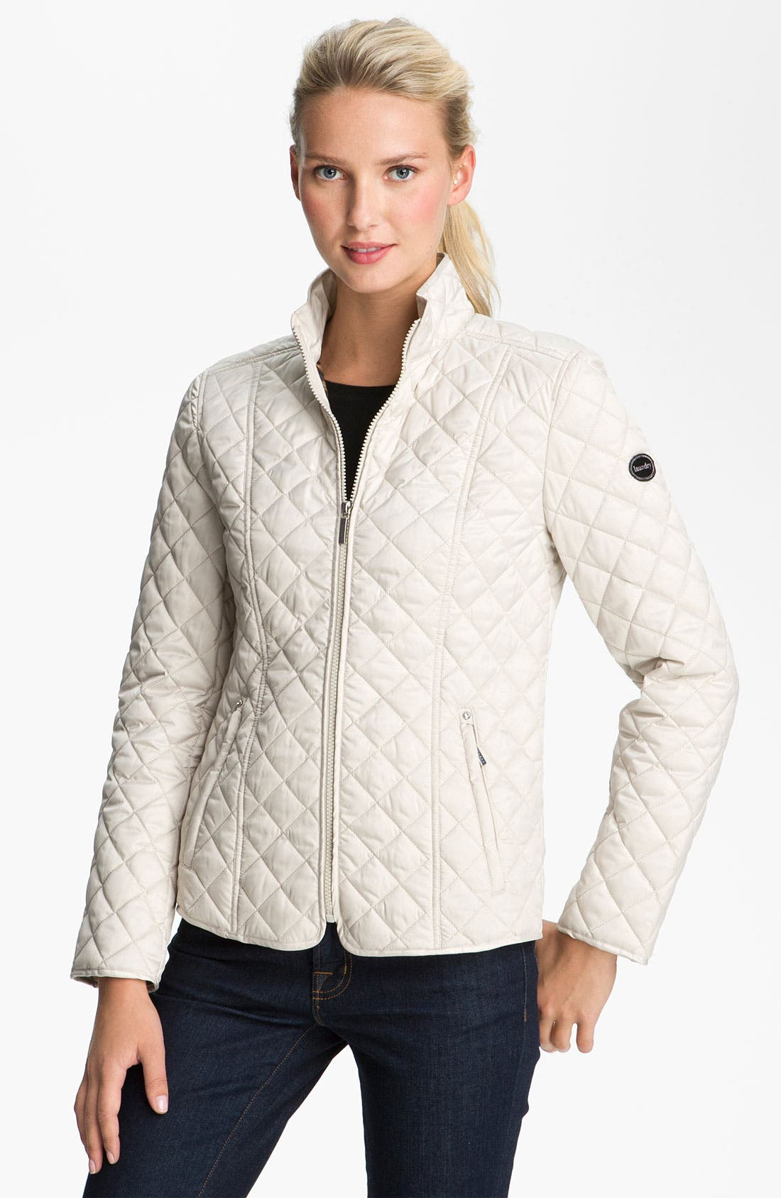 Alternate Image 1 Selected - Laundry by Shelli Segal Quilted Zip Jacket