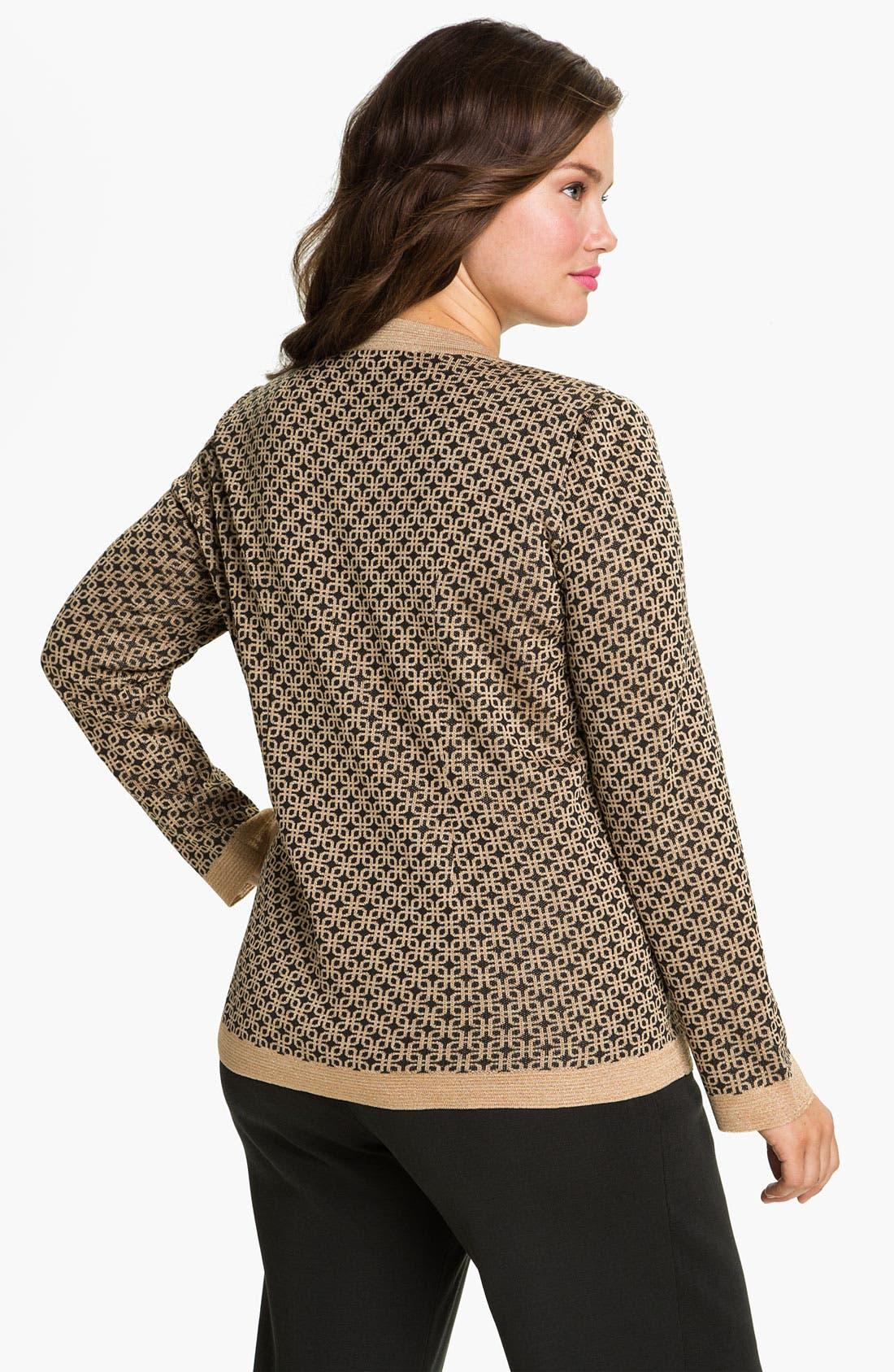 Alternate Image 2  - Exclusively Misook Tweed Knit Jacket (Plus)