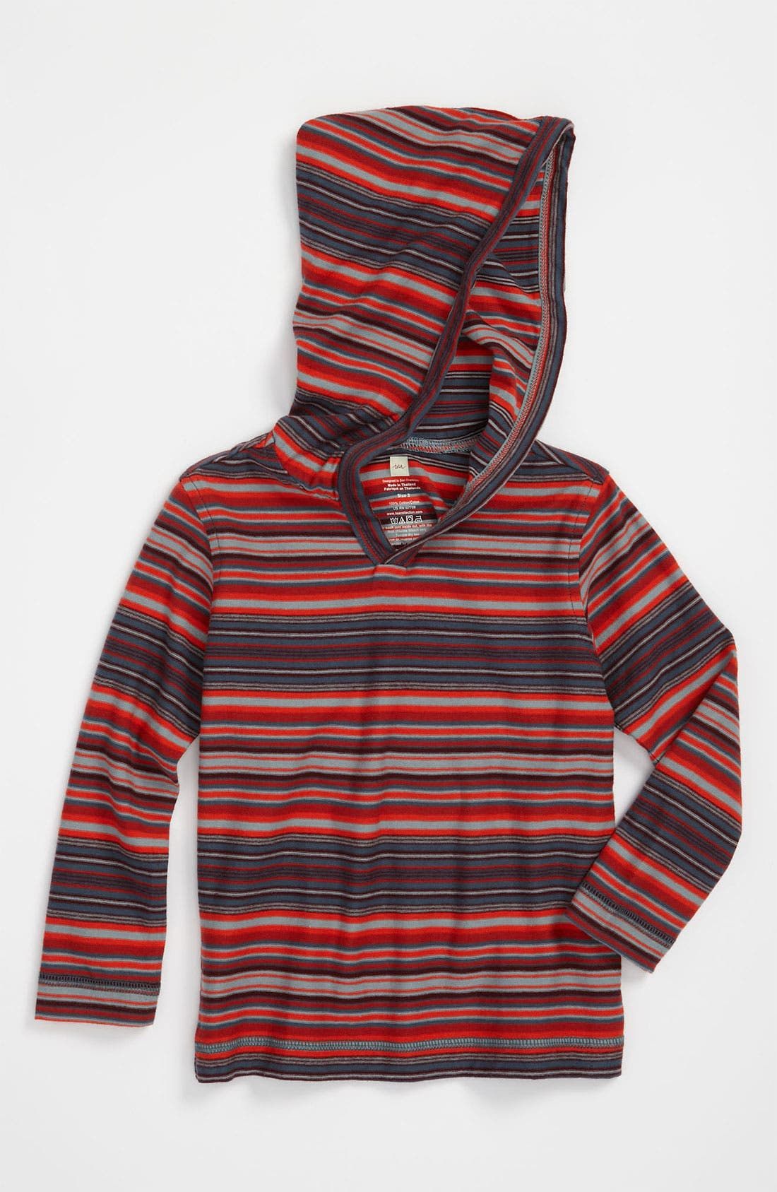 Main Image - Tea Collection 'Peli' Stripe Hoodie (Toddler)