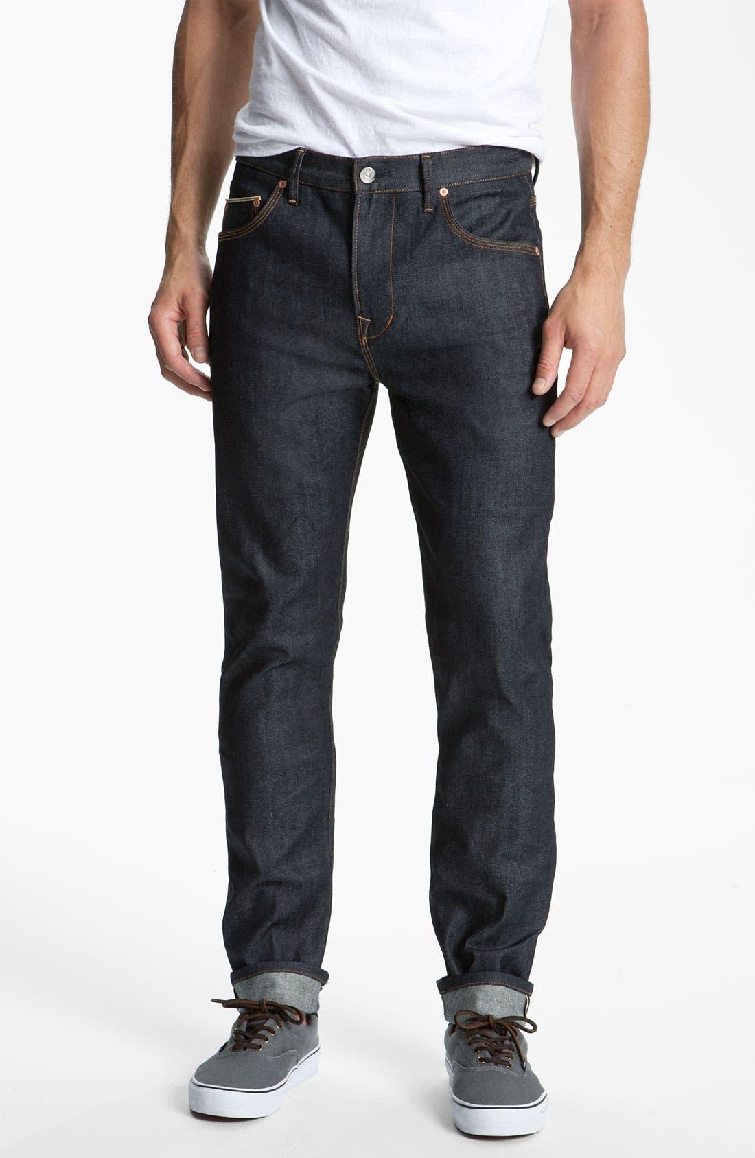 Alternate Image 2  - WeSC 'Eddy' Slim Fit Jeans (Raw Stretch Selvage)