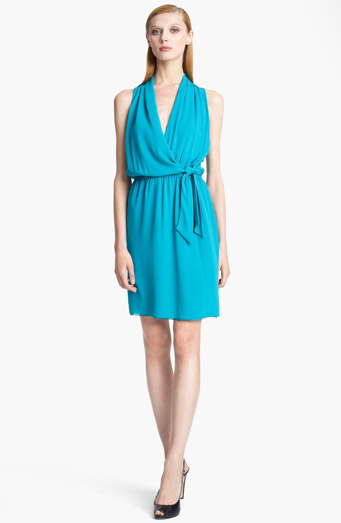Alternate Image 1 Selected - Armani Collezioni Silk Crepe Dress