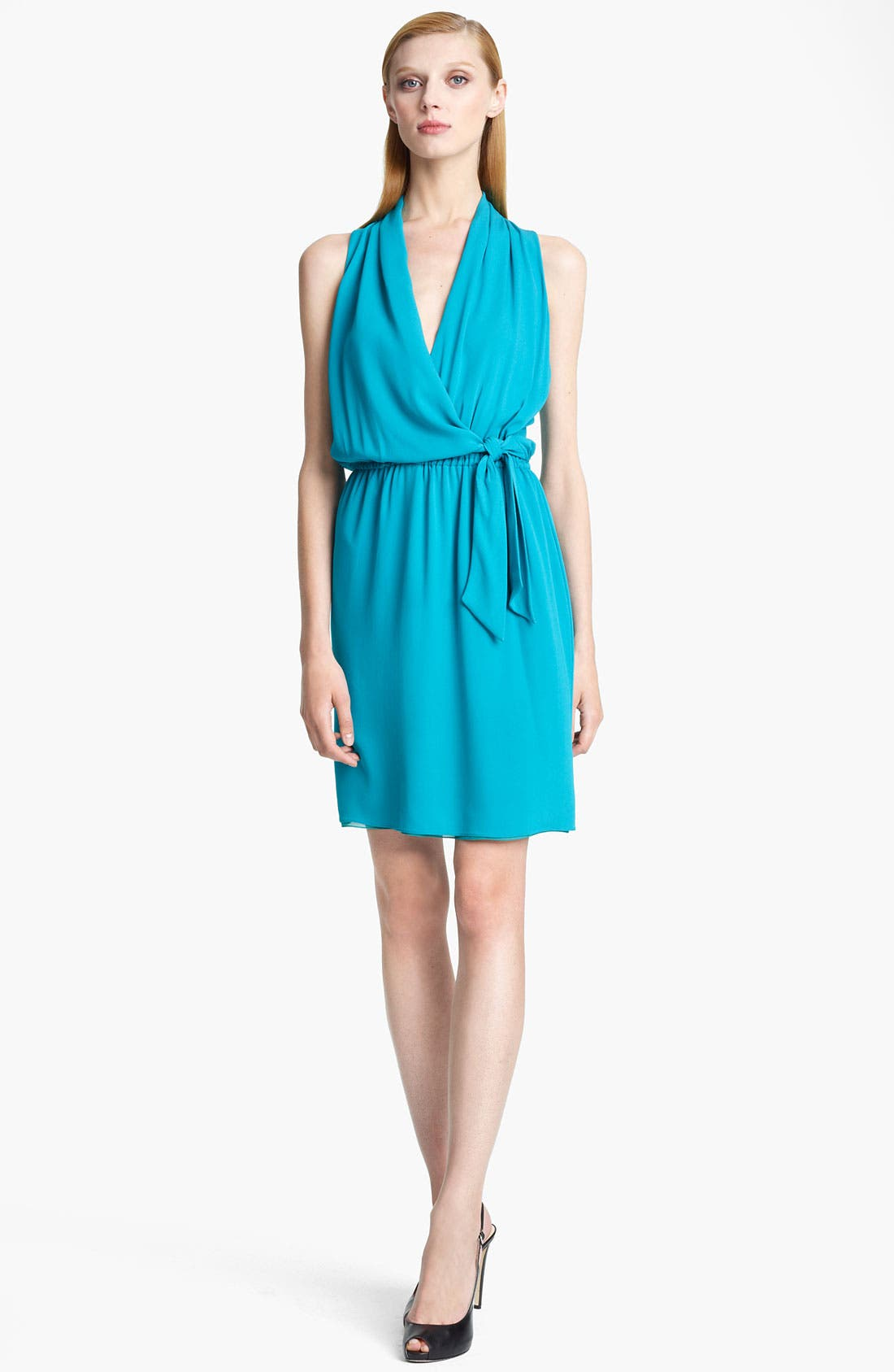 Main Image - Armani Collezioni Silk Crepe Dress