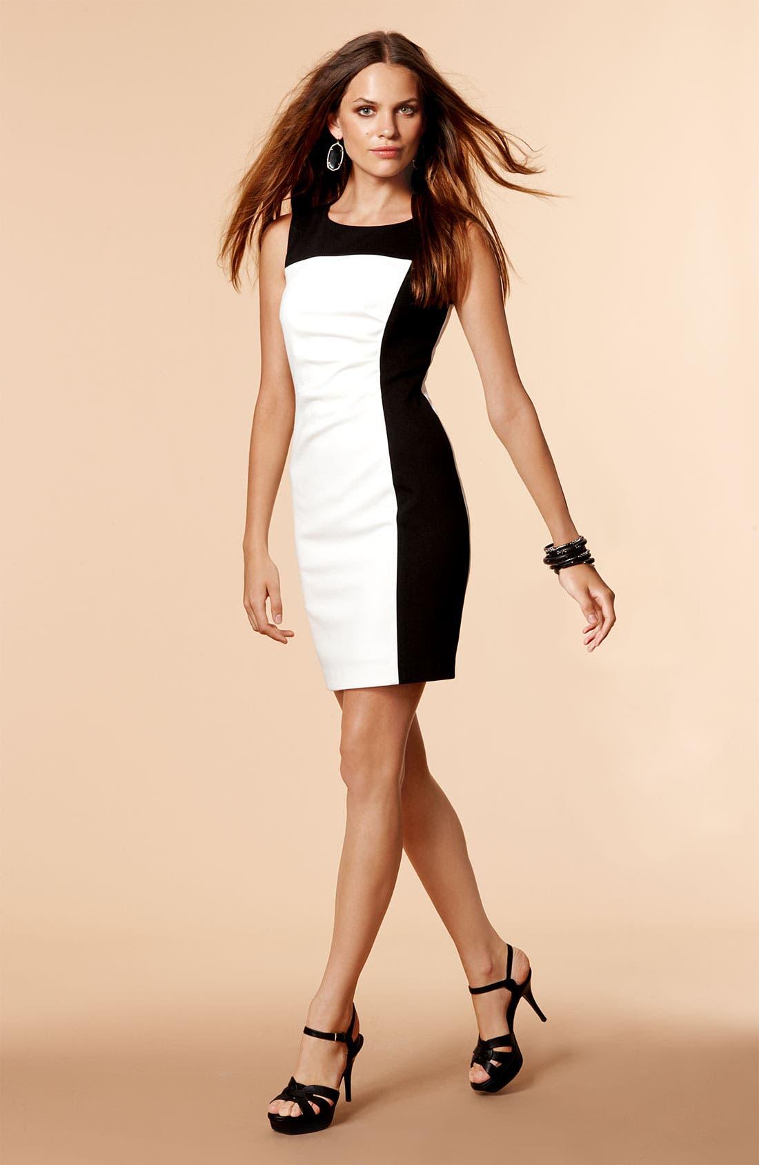 Alternate Image 4  - Calvin Klein Colorblock Ponte Sheath Dress