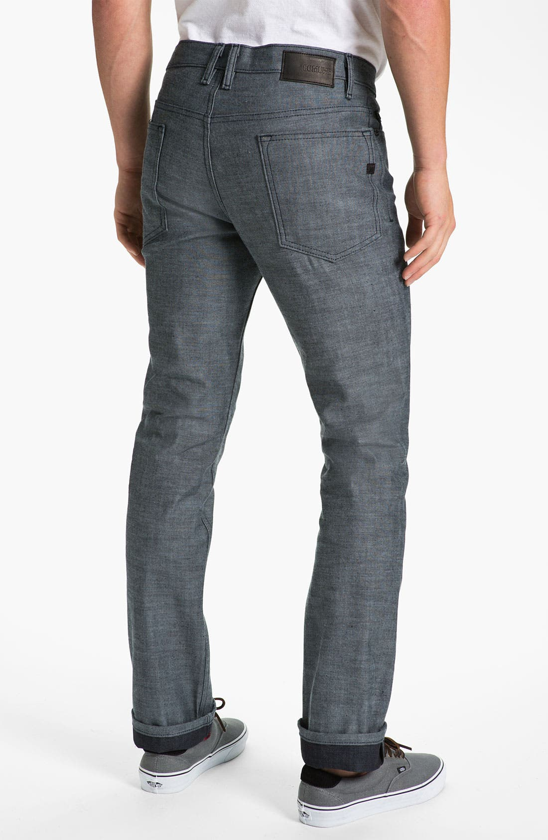 Alternate Image 1 Selected - Comune 'Ricky' Slim Straight Leg Jeans (Speckled Backside of Indigo)