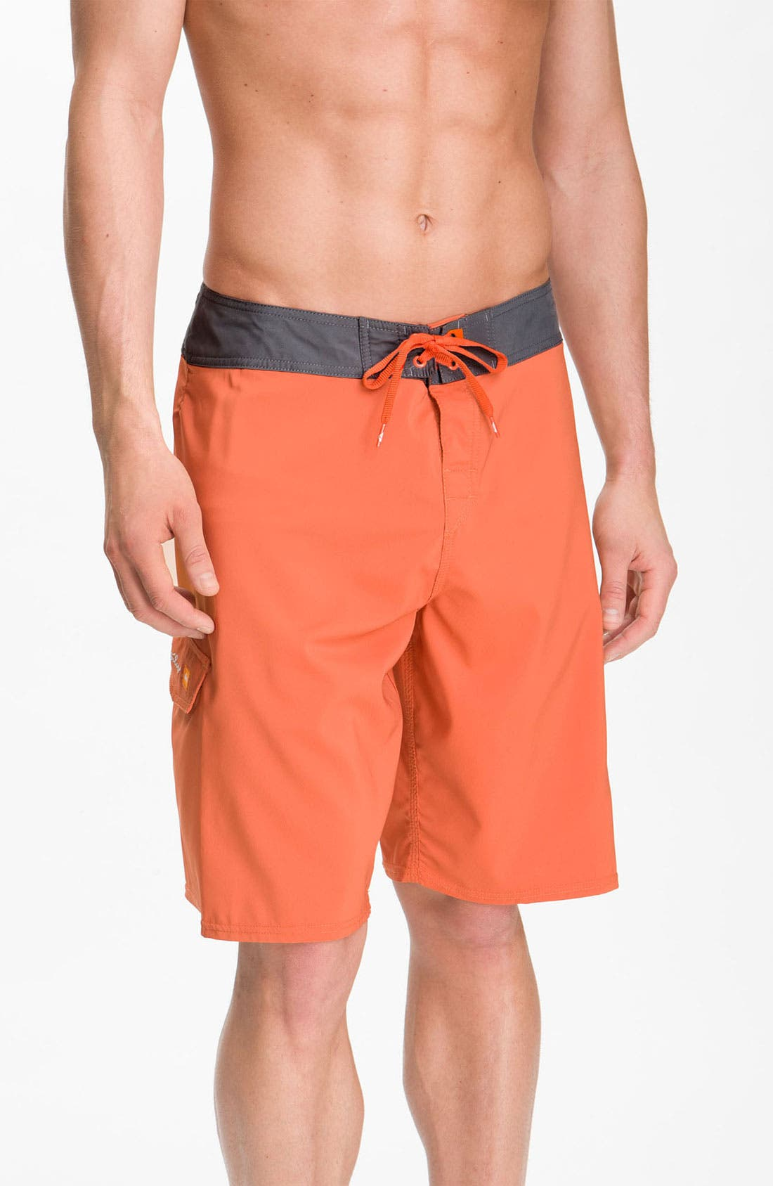 Alternate Image 1 Selected - Quiksilver Waterman 'Indo' Diamond Dobby™ Board Shorts