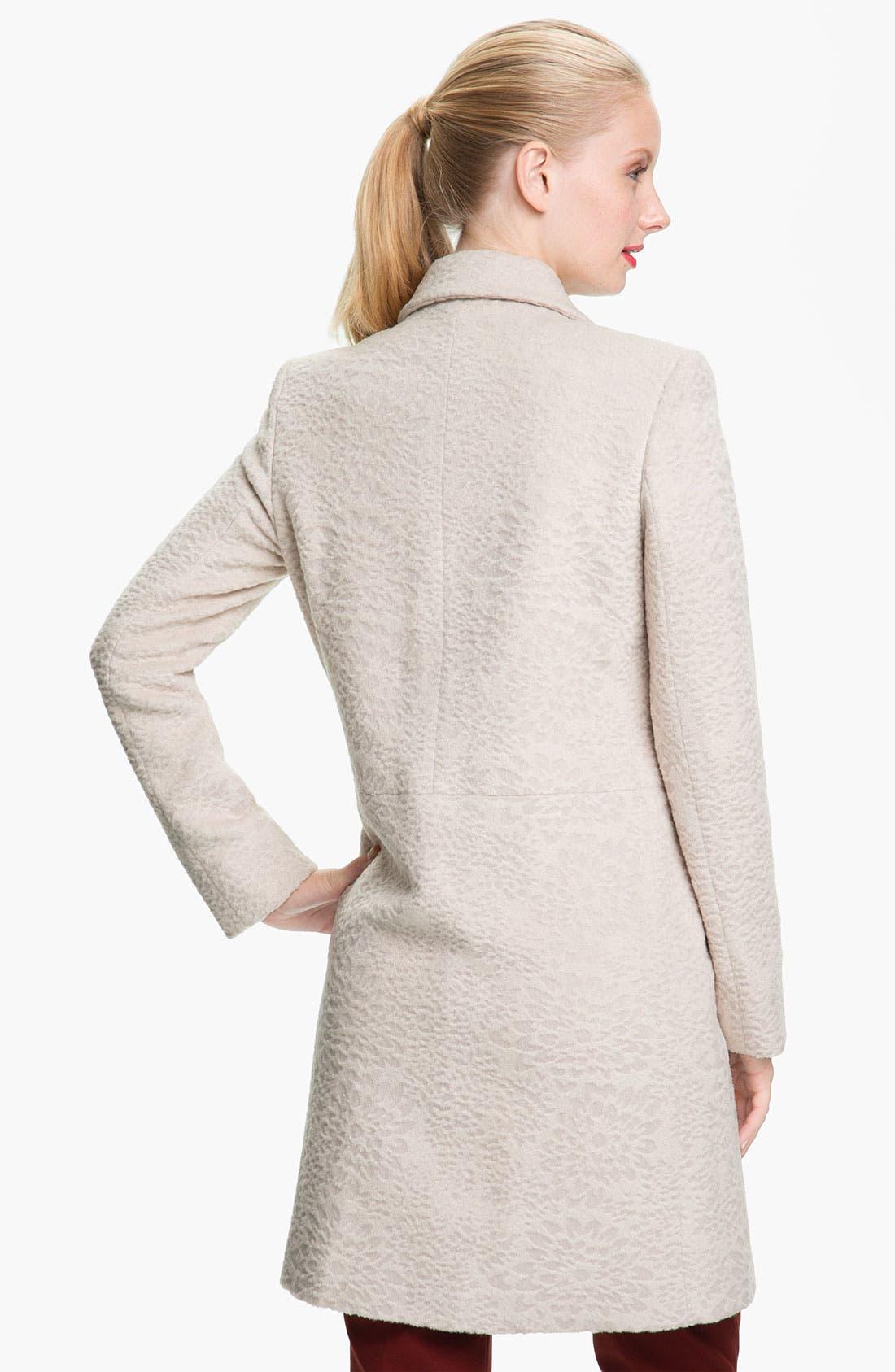 Alternate Image 2  - Tahari 'Robyn' Textured Coat