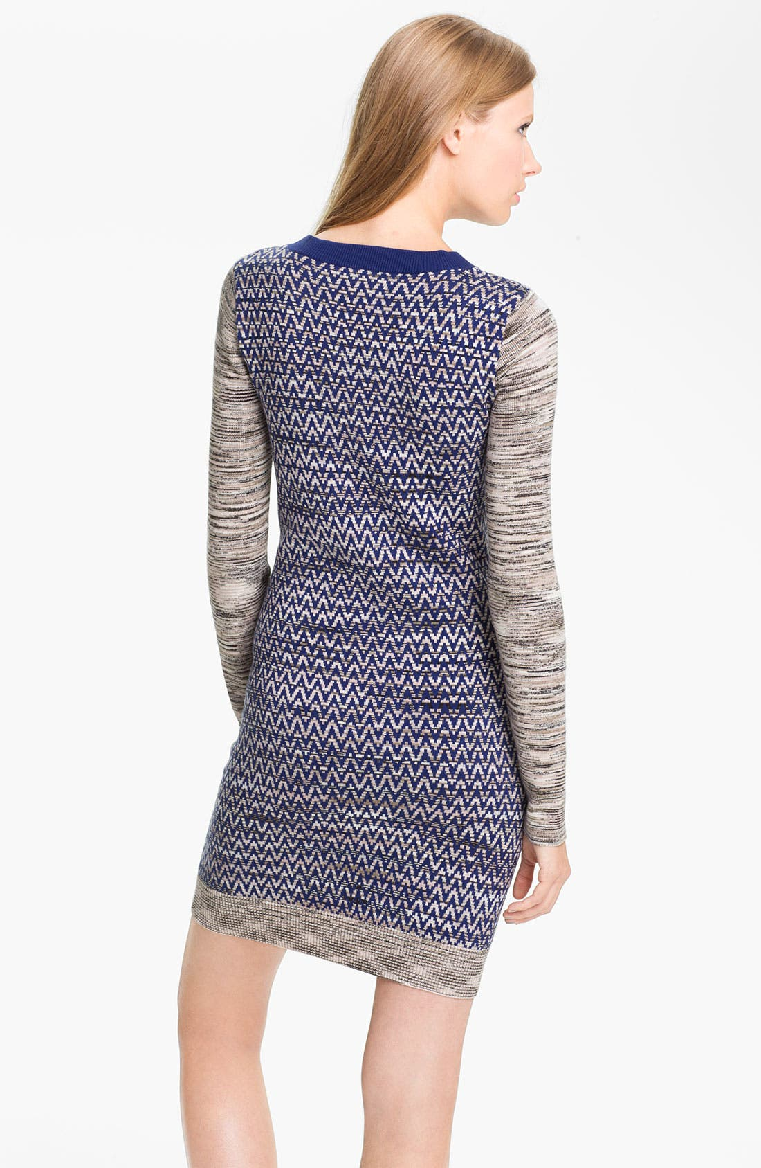 Alternate Image 2  - French Connection 'Space Baby Knits' Chevron Sweater Dress