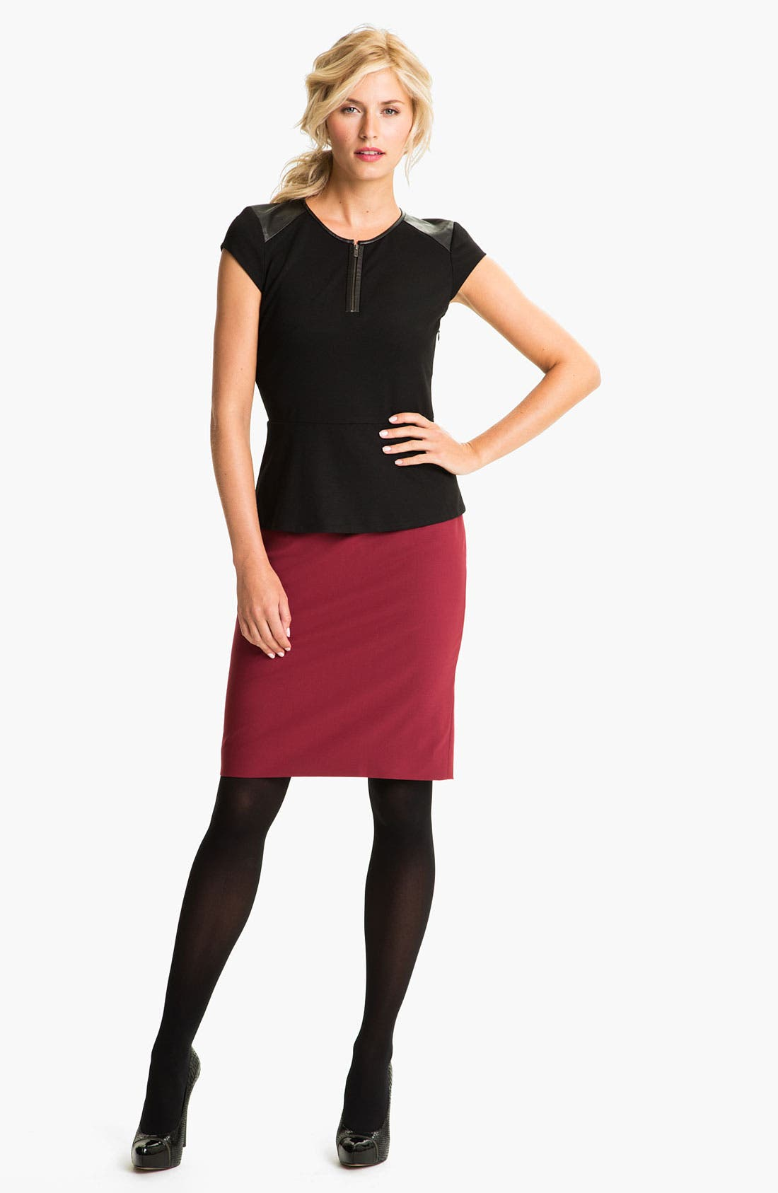 Alternate Image 4  - Classiques Entier® 'Piper Weave' Skirt