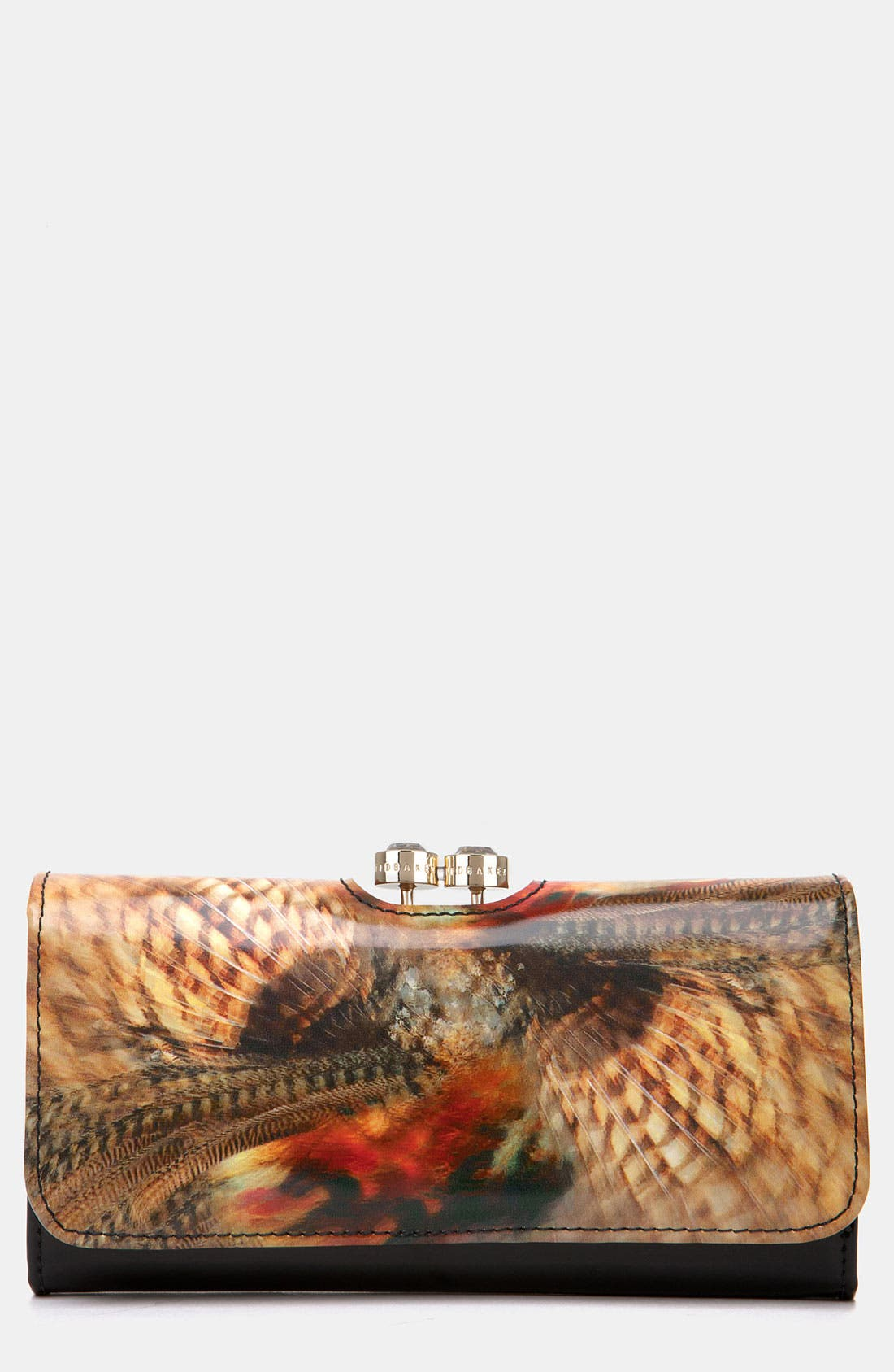 Main Image - Ted Baker London 'Woodland Faces - Bobble' Matinee Wallet