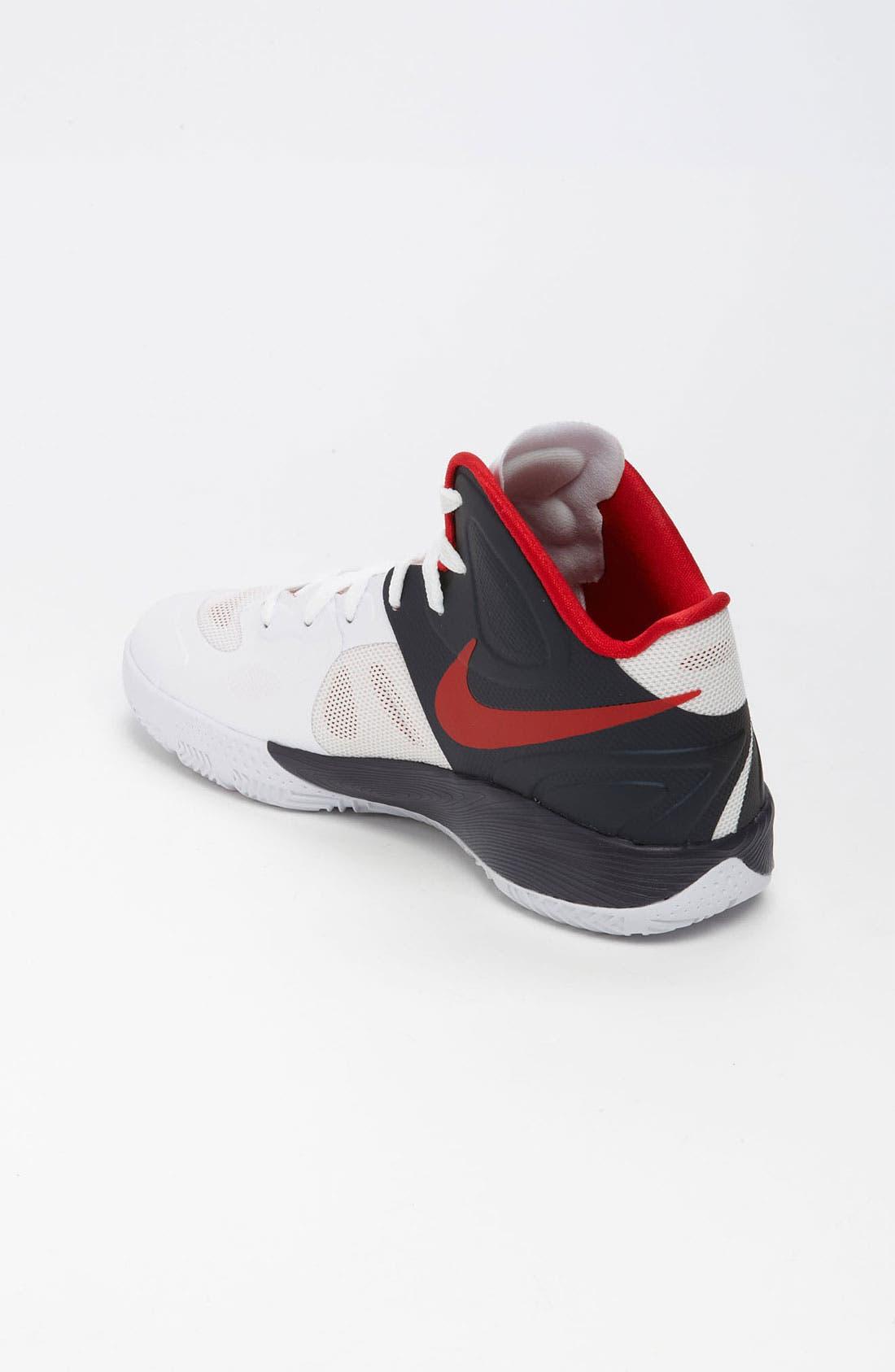 Alternate Image 2  - Nike 'Hyperfuse 2012' Basketball Shoe (Big Kid)