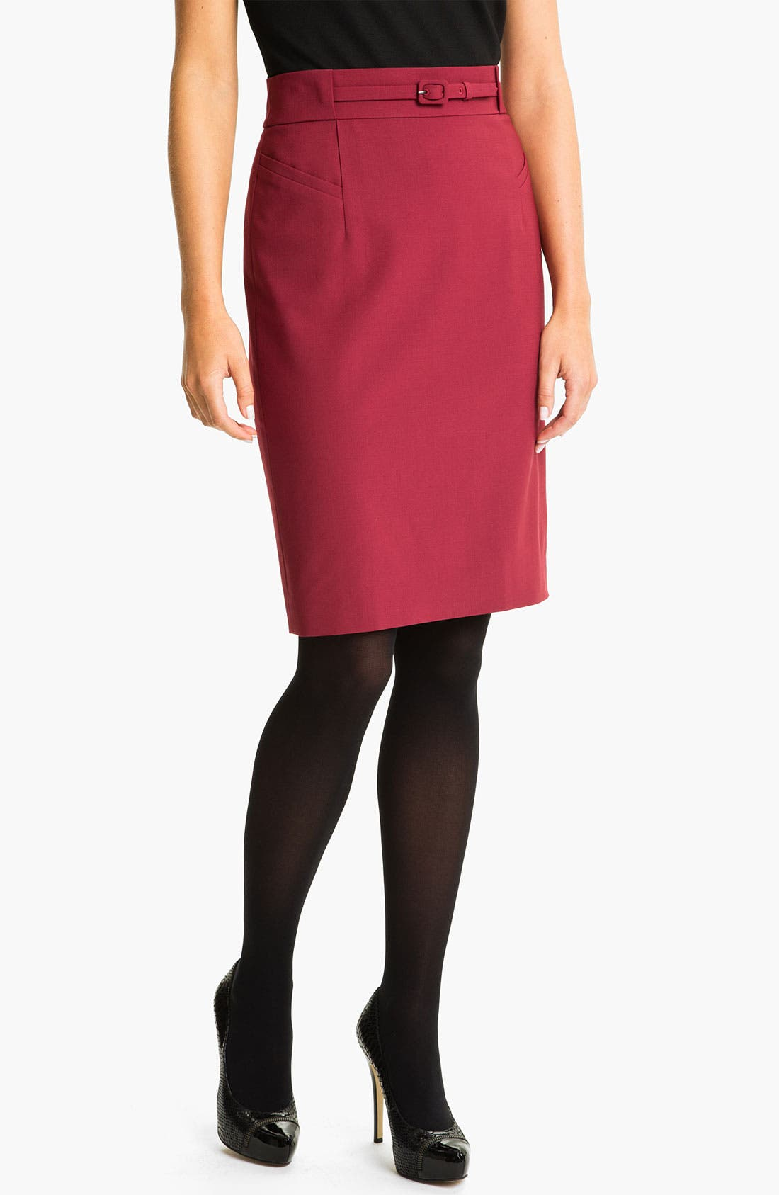 Alternate Image 1 Selected - Classiques Entier® 'Piper Weave' Skirt