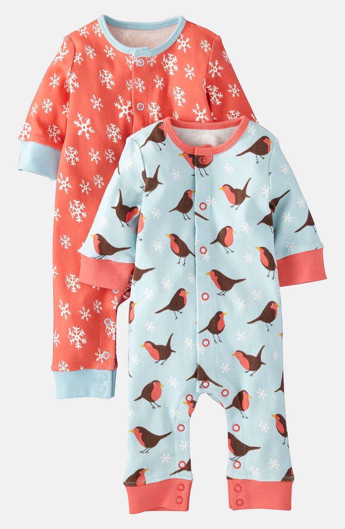 Alternate Image 1 Selected - Mini Boden Coveralls (2-Pack) (Infant)