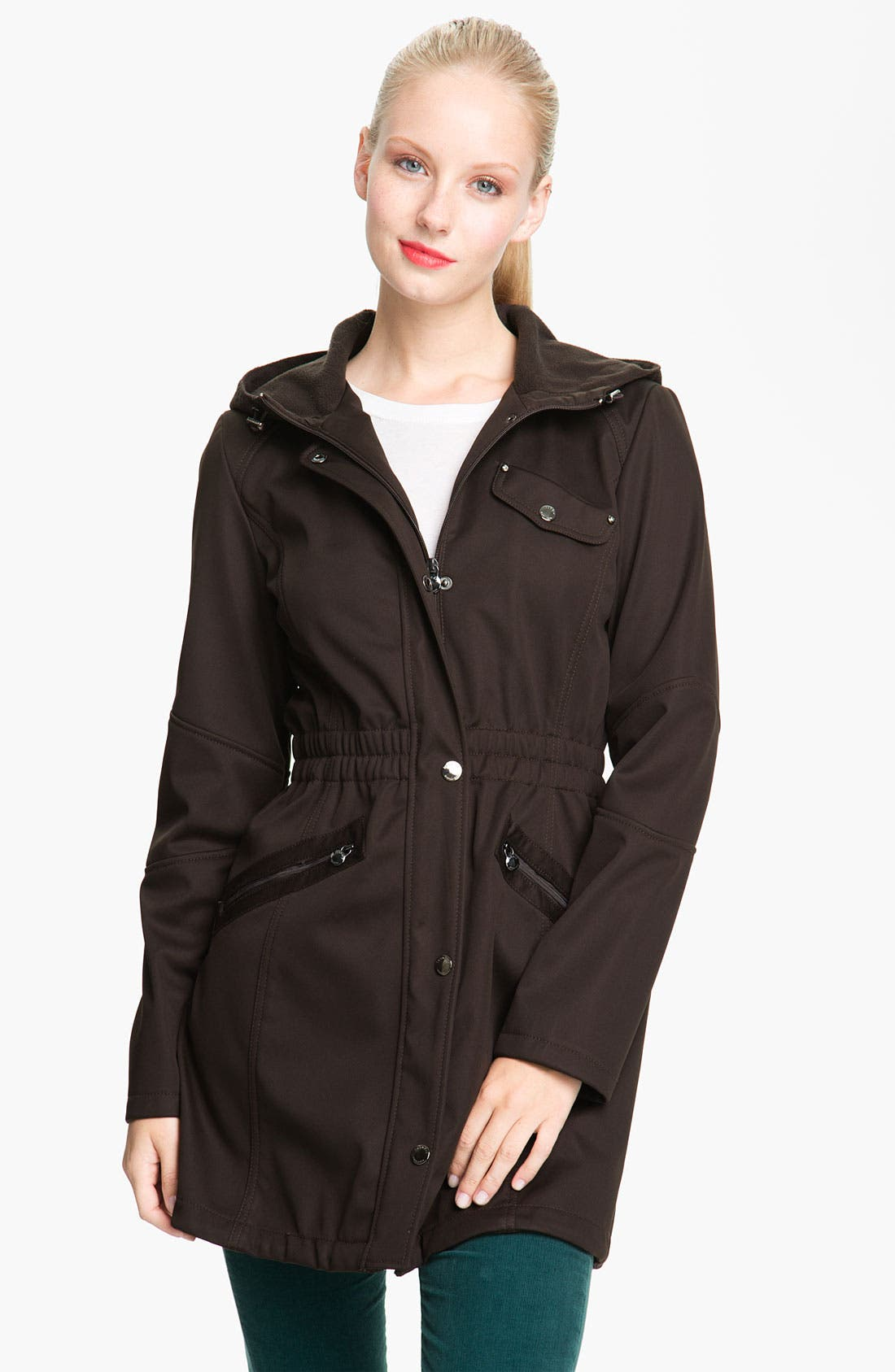 Main Image - Laundry by Shelli Segal Softshell Anorak (Nordstrom Exclusive)