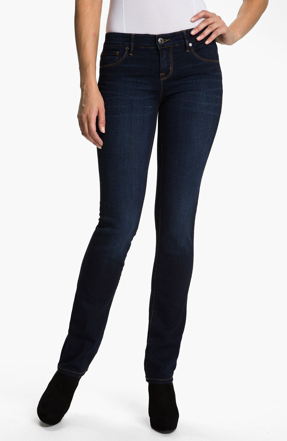 Alternate Image 1 Selected - Isaac Mizrahi Jeans 'Emma' Straight Leg Jeans (Tribeca Wash)