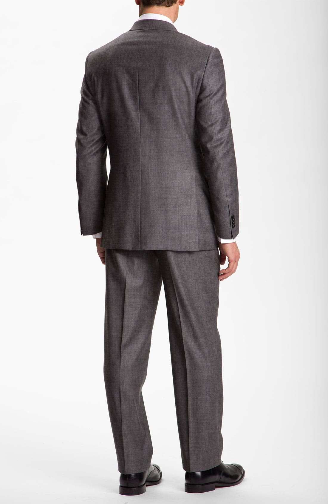 Alternate Image 3  - Hickey Freeman Solid Wool Suit