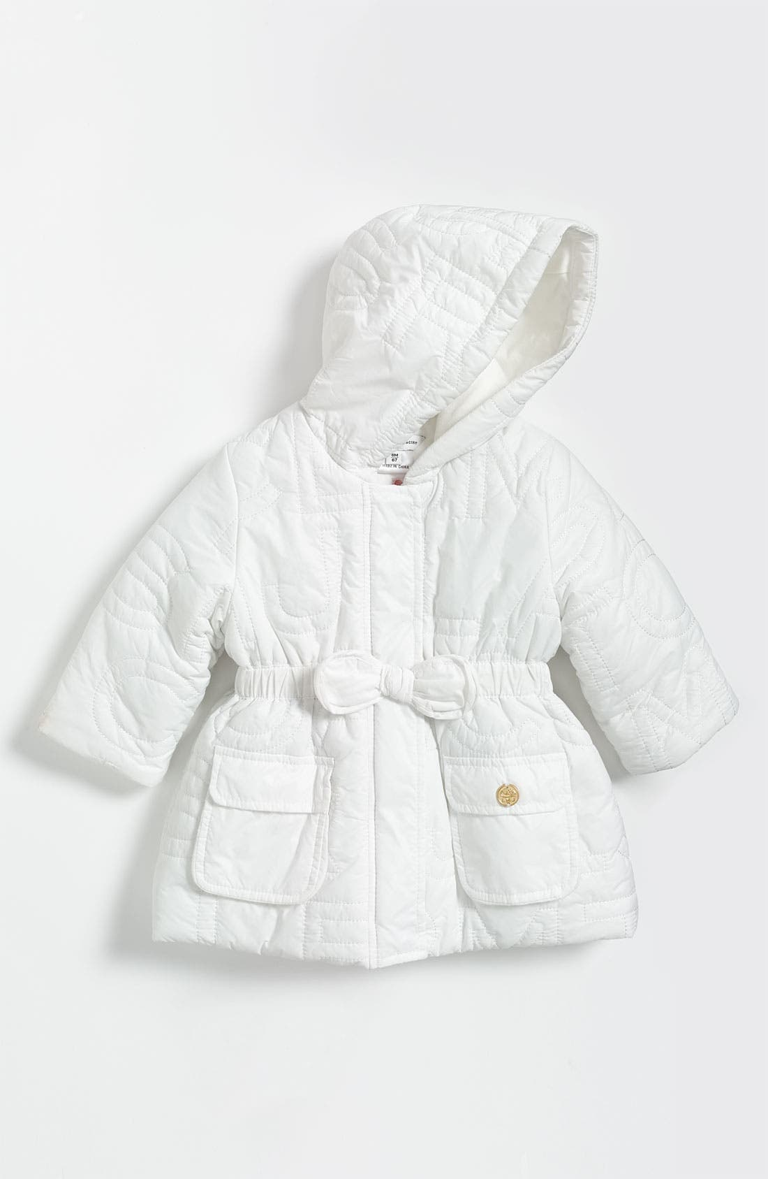 Main Image - LITTLE MARC JACOBS Hooded Puffer Jacket (Infant)