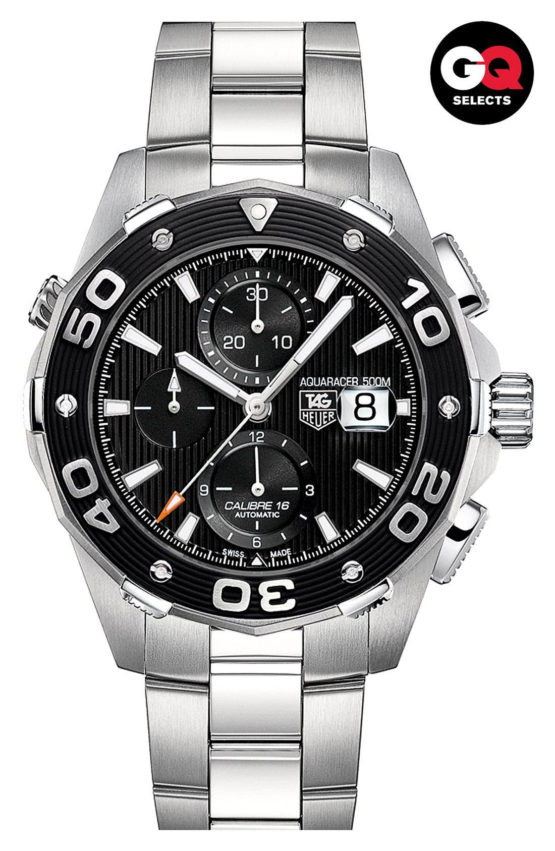 Alternate Image 2  - TAG Heuer 'Aquaracer' Automatic Chronograph Watch