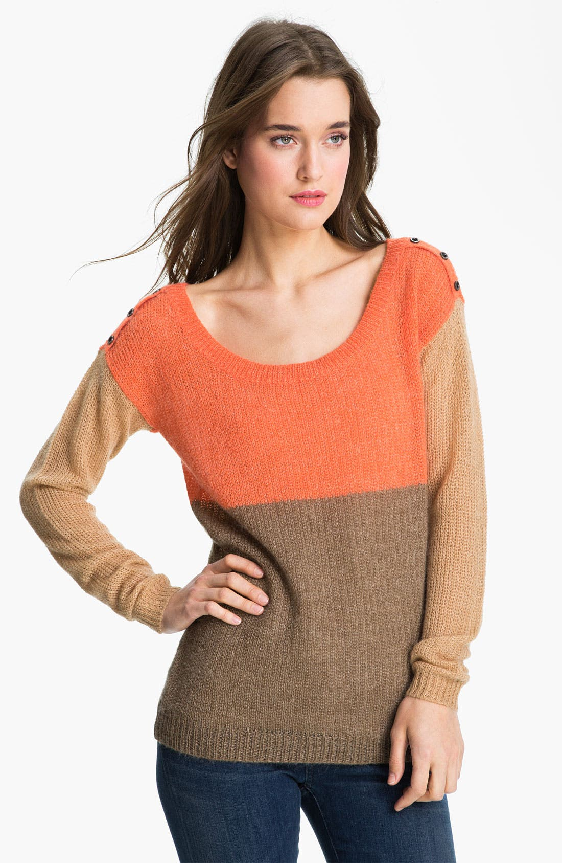 Main Image - Splendid Colorblock Sweater