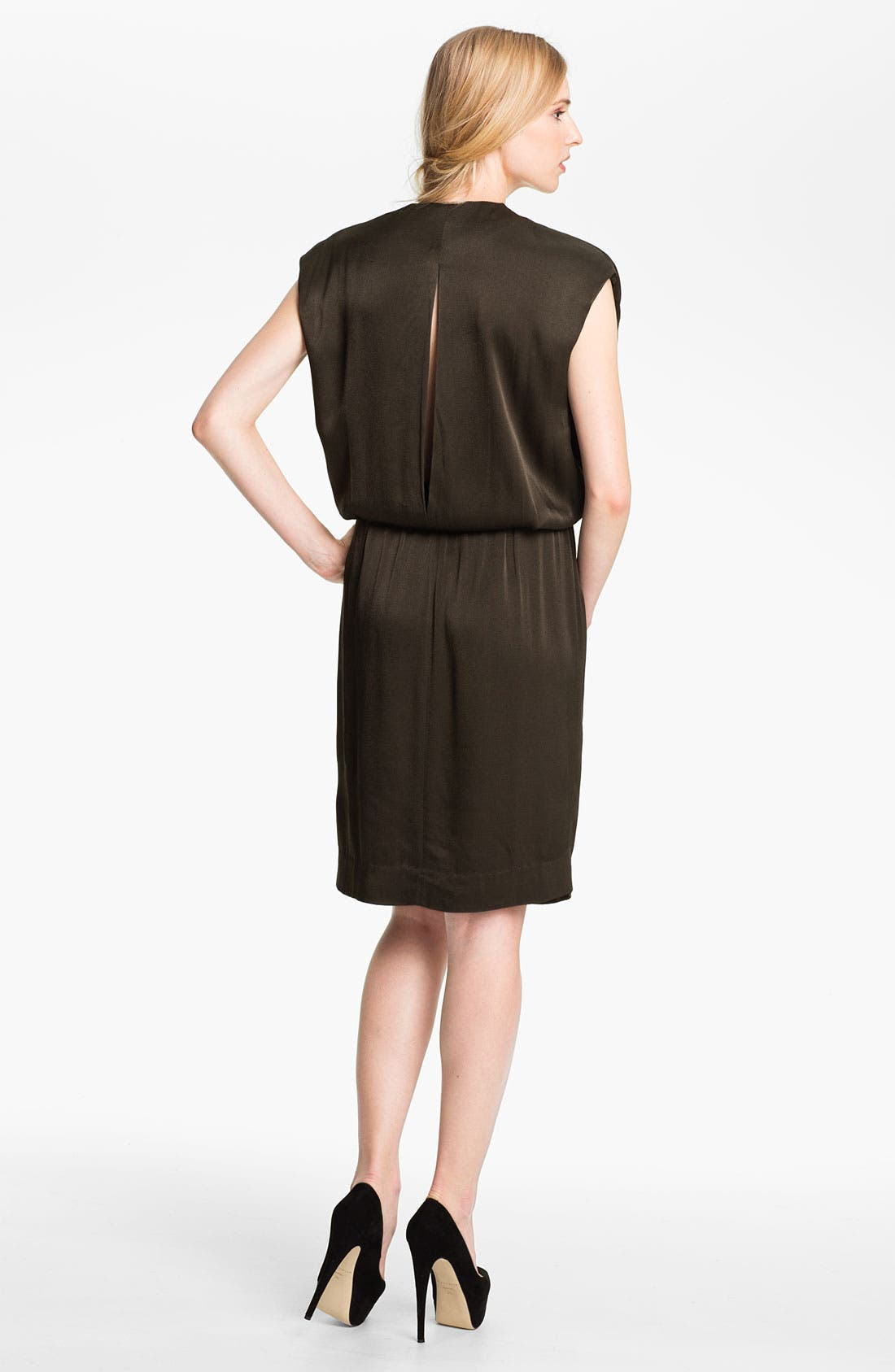 Alternate Image 2  - L'AGENCE Drop Sleeve Blouson Dress
