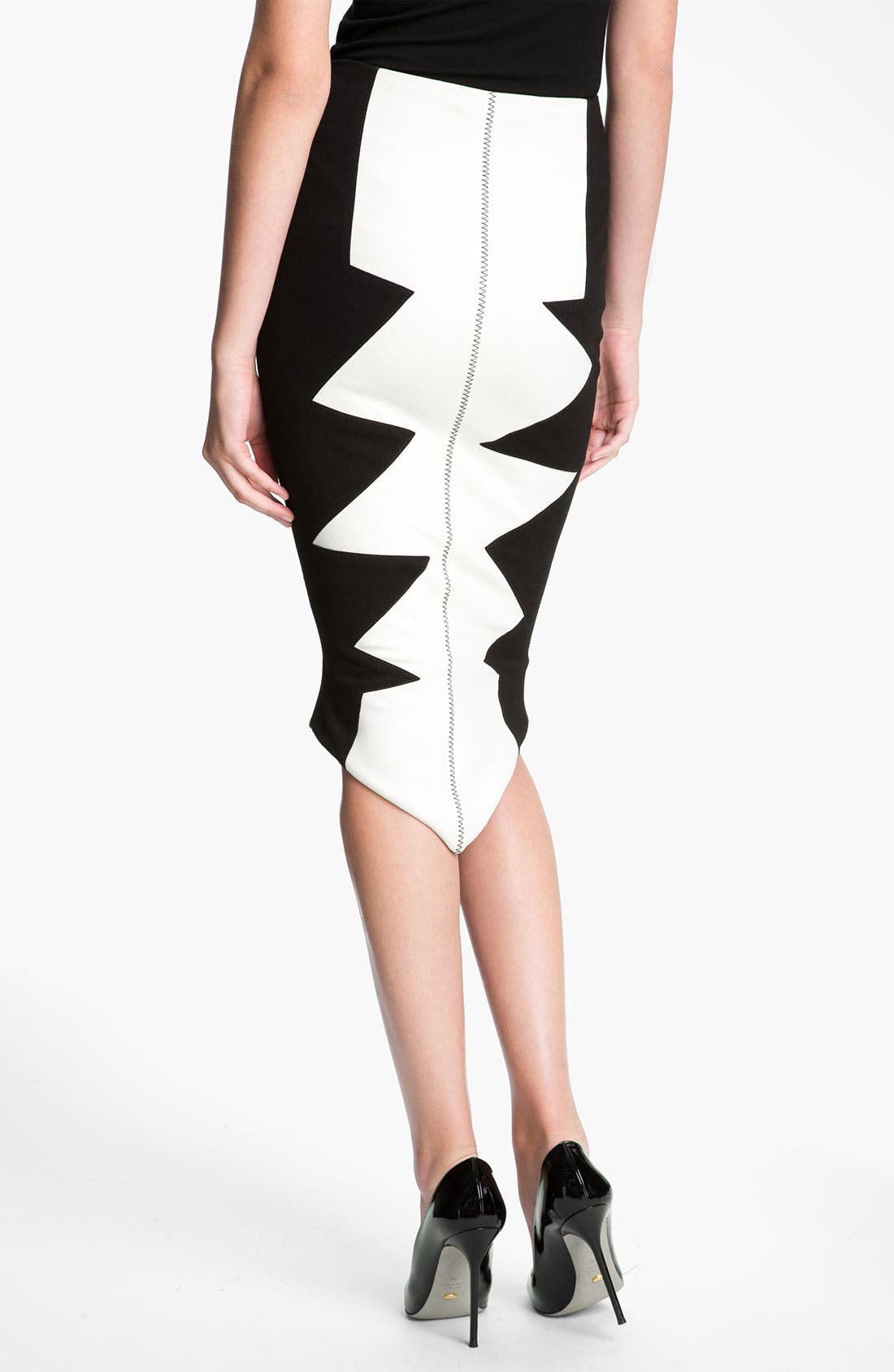 Alternate Image 2  - Kelly Wearstler 'Organto' Contrast Panel Knit Pencil Skirt