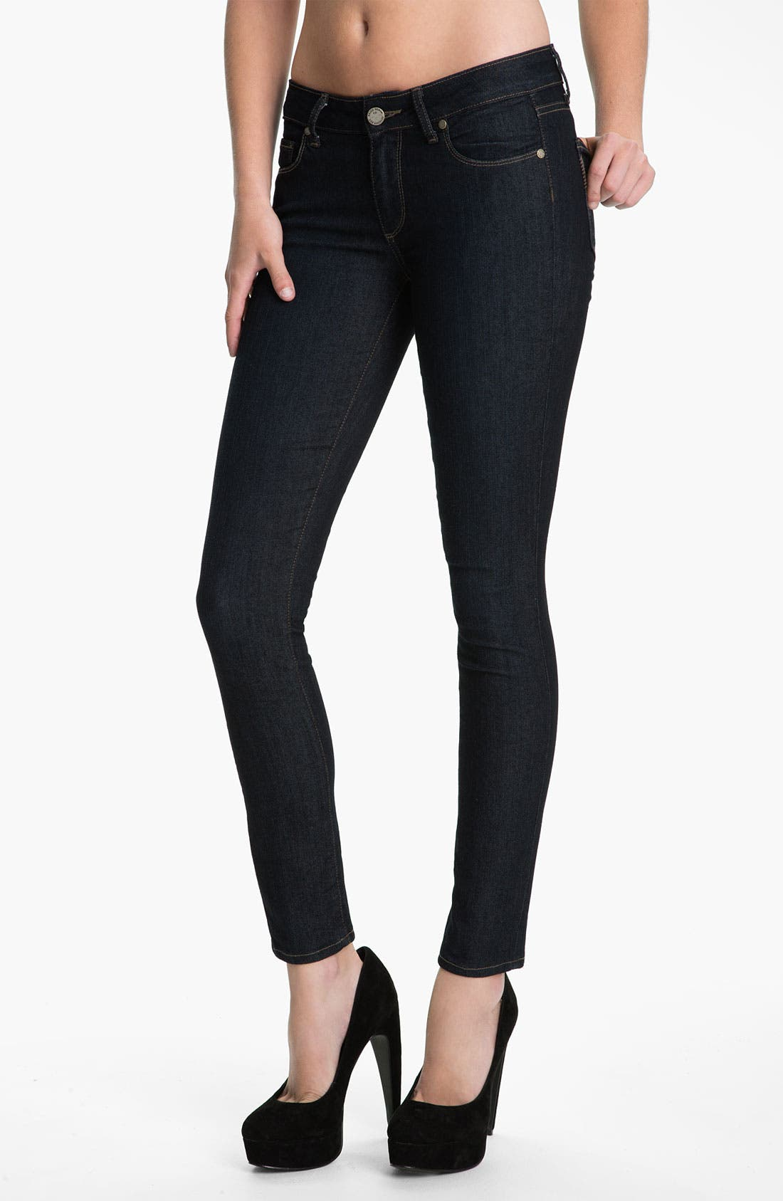 Main Image - Paige Denim 'Verdugo' Stretch Skinny Jeans (Dark Blue)