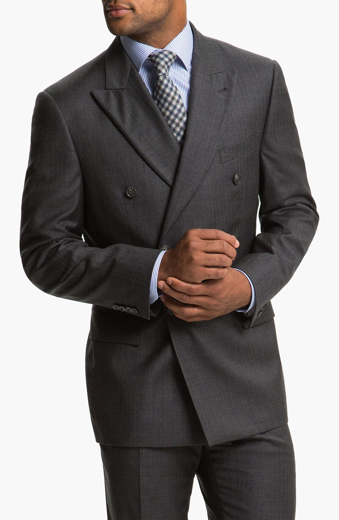 Main Image - Joseph Abboud 'Profile' Double Breasted Wool Suit
