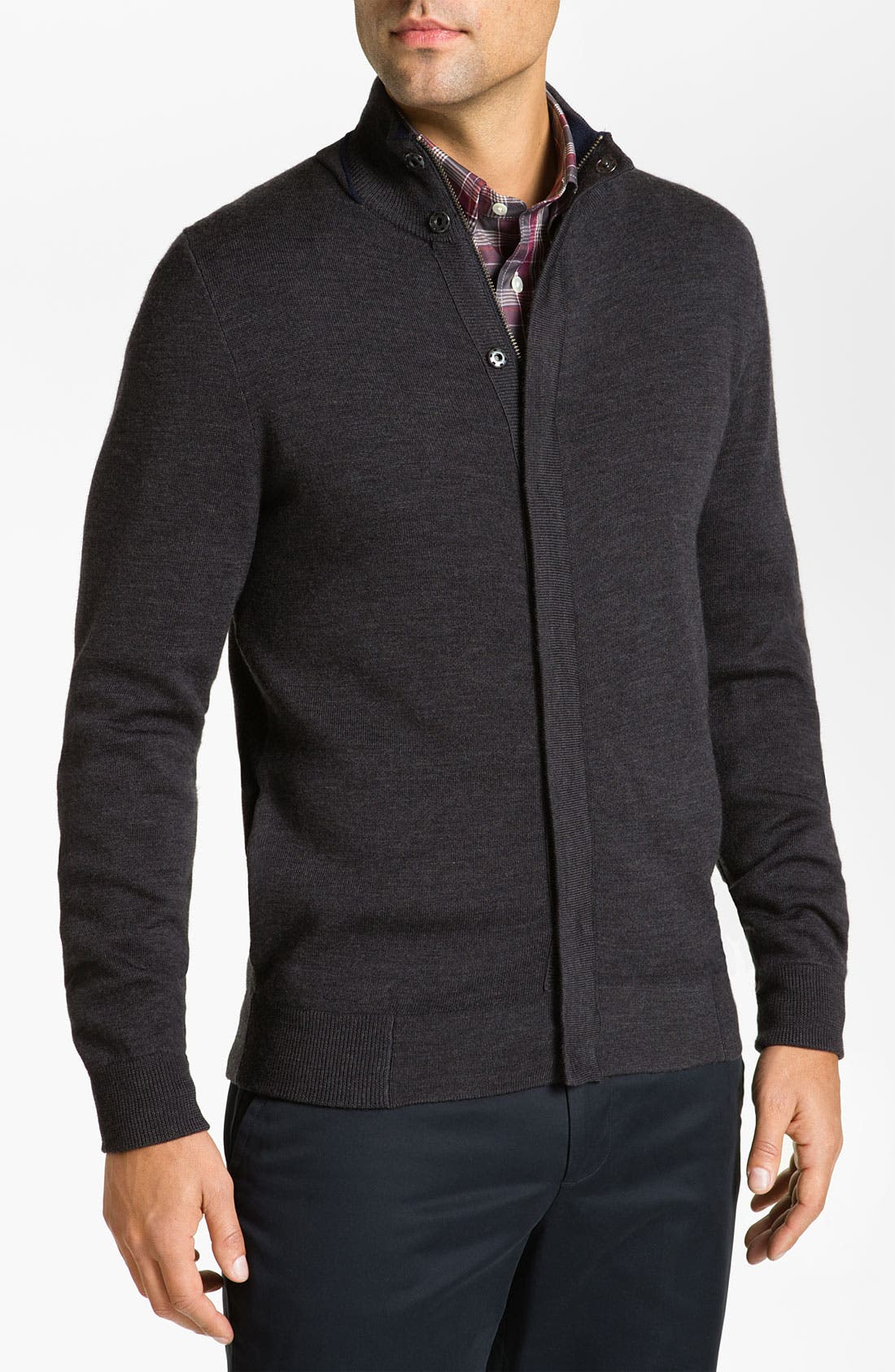 Main Image - Façonnable Classique Fit Merino Wool Cardigan