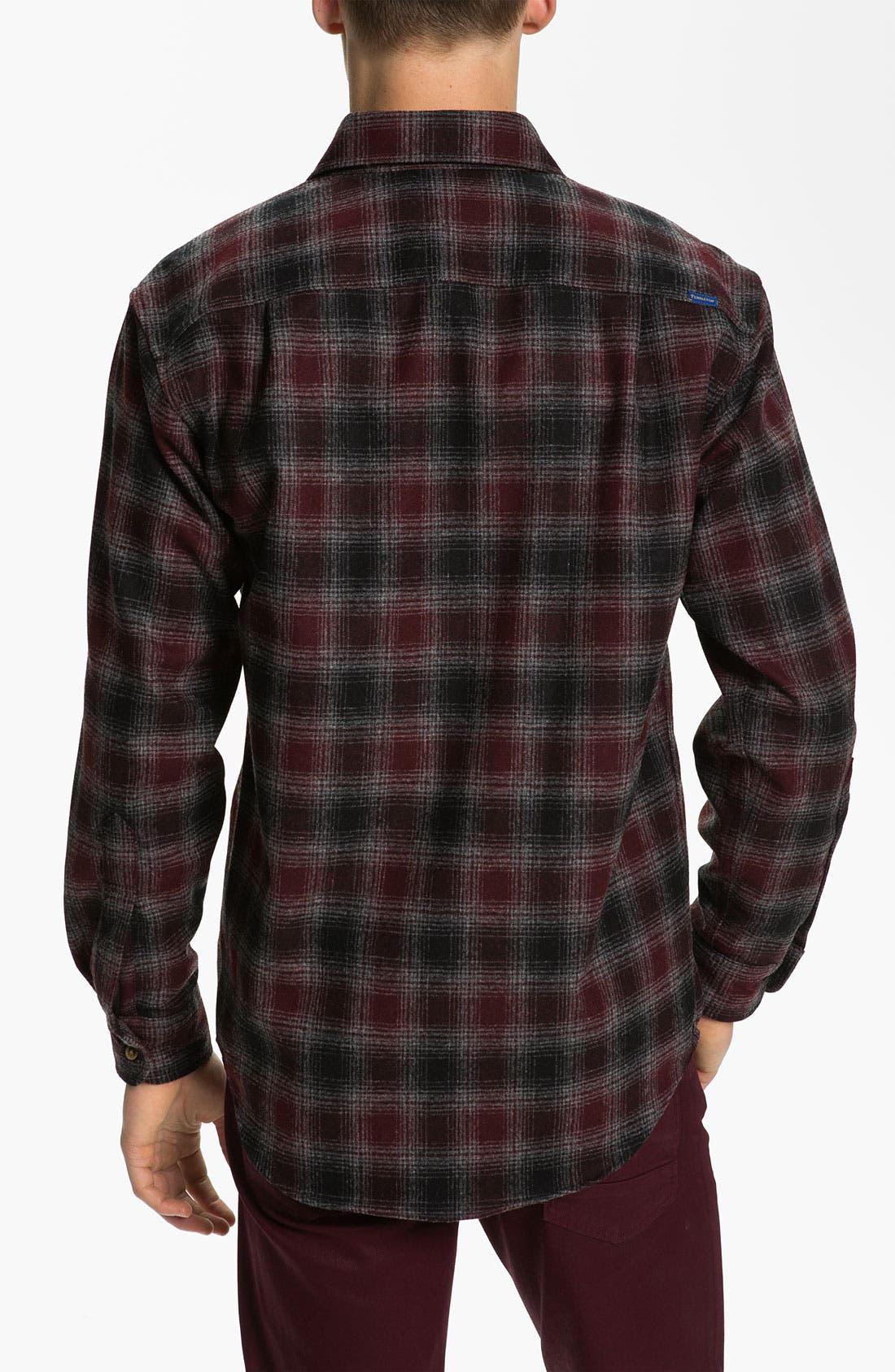 Alternate Image 2  - Pendleton 'Lodge' Fitted Plaid Wool Flannel Shirt
