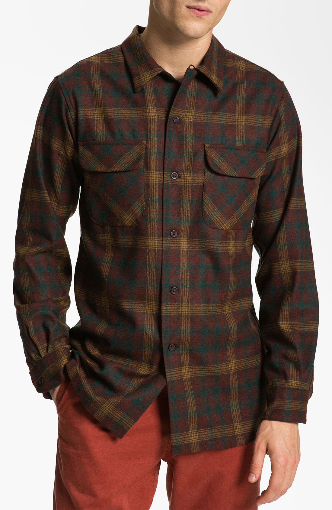 Alternate Image 1 Selected - Pendleton 'Board' Fitted Wool Flannel Shirt