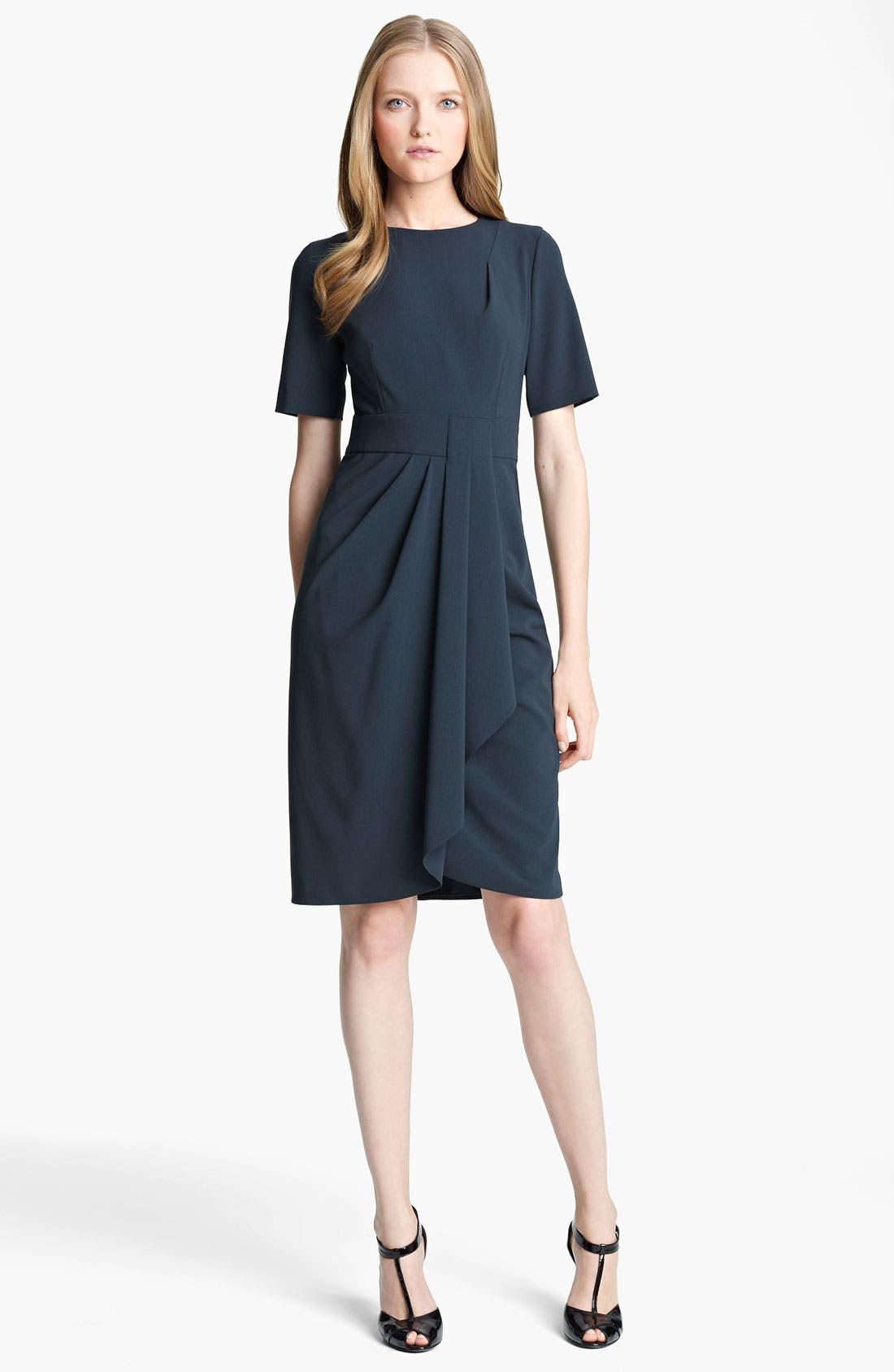 Main Image - Armani Collezioni Drape Front Crepe Dress