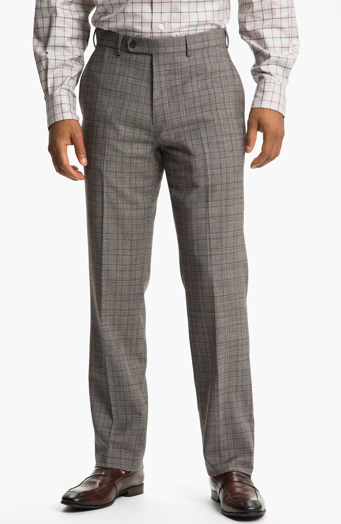 Alternate Image 1 Selected - Peter Millar Flat Front Wool Trousers