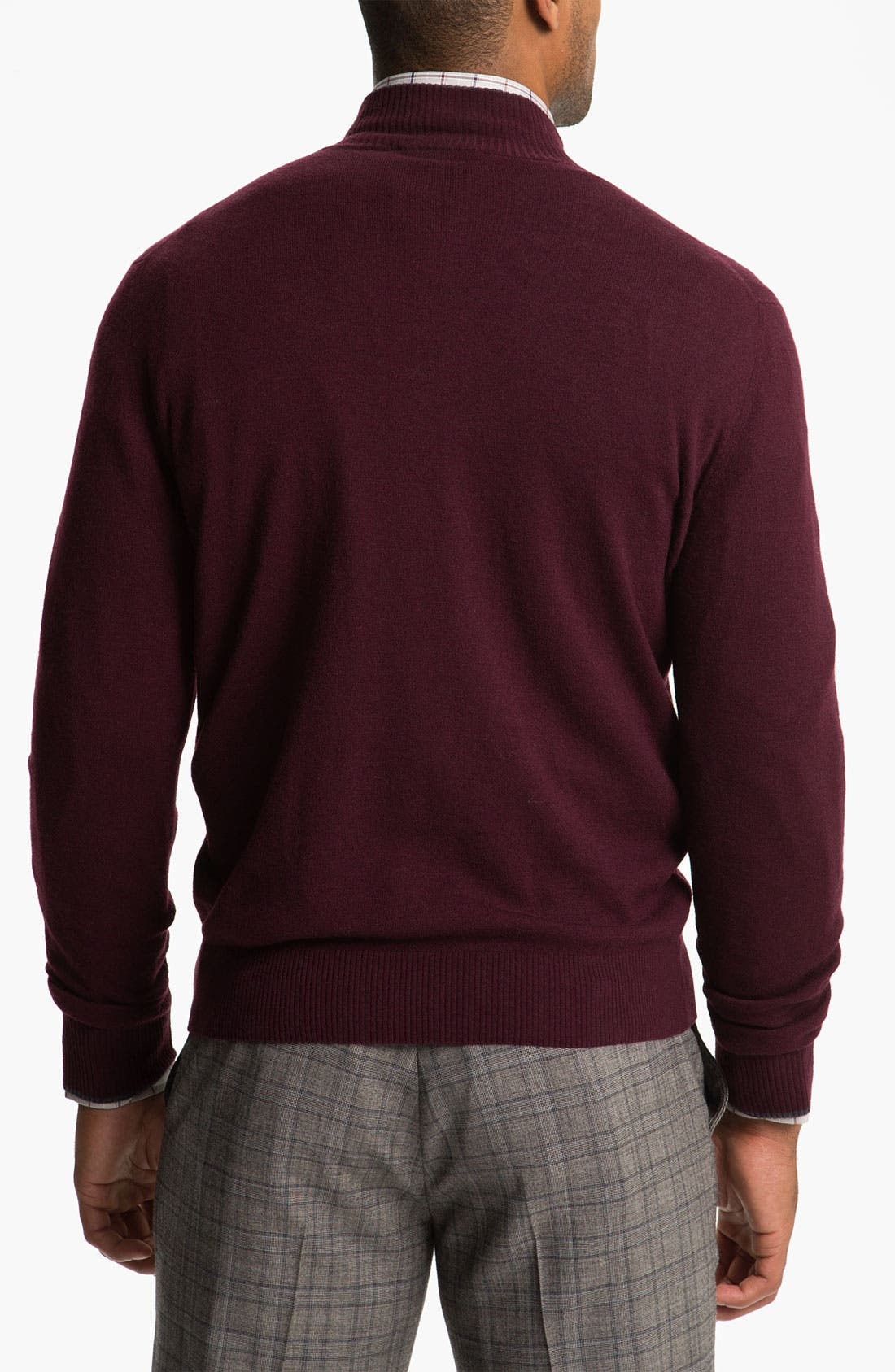 Alternate Image 2  - Canali Quarter Zip Wool Sweater