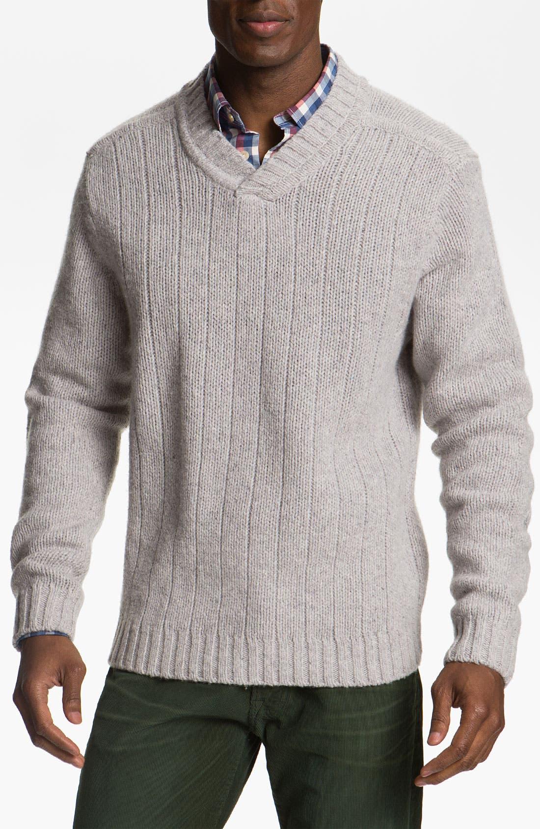 Alternate Image 1 Selected - Cutter & Buck 'Northlands' V-Neck Wool Blend Sweater