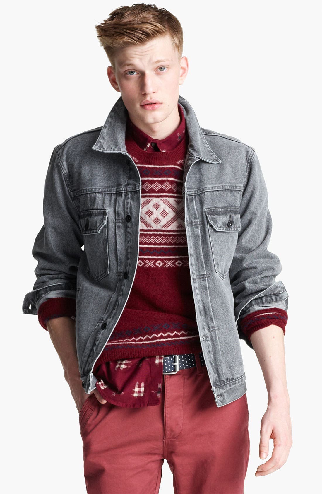 Alternate Image 1 Selected - Topman 'Dyder' Denim Jacket
