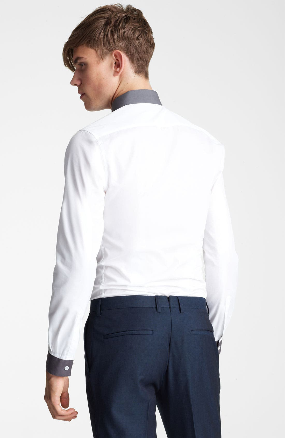 Alternate Image 2  - Topman 'Darren' Extra Trim Dress Shirt