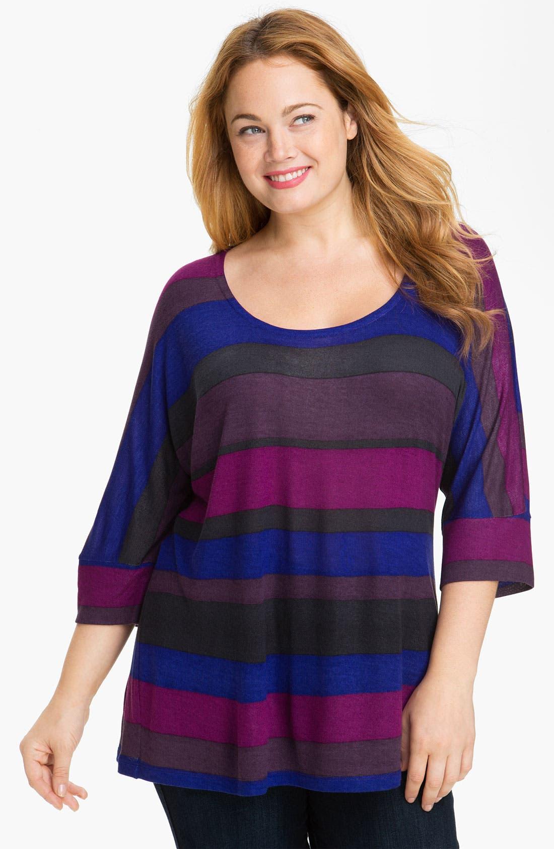 Alternate Image 1 Selected - Splendid Stripe Knit Top (Plus)