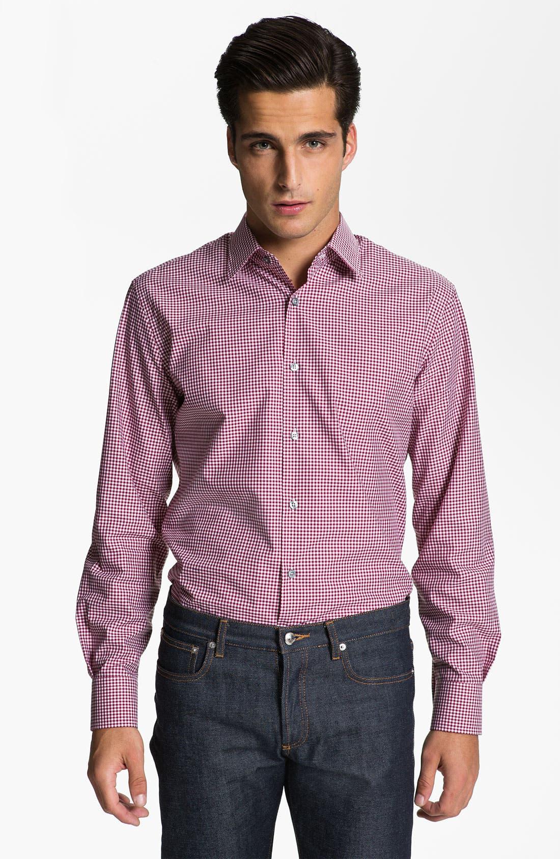 Alternate Image 1 Selected - Paul Smith London Check Print Dress Shirt