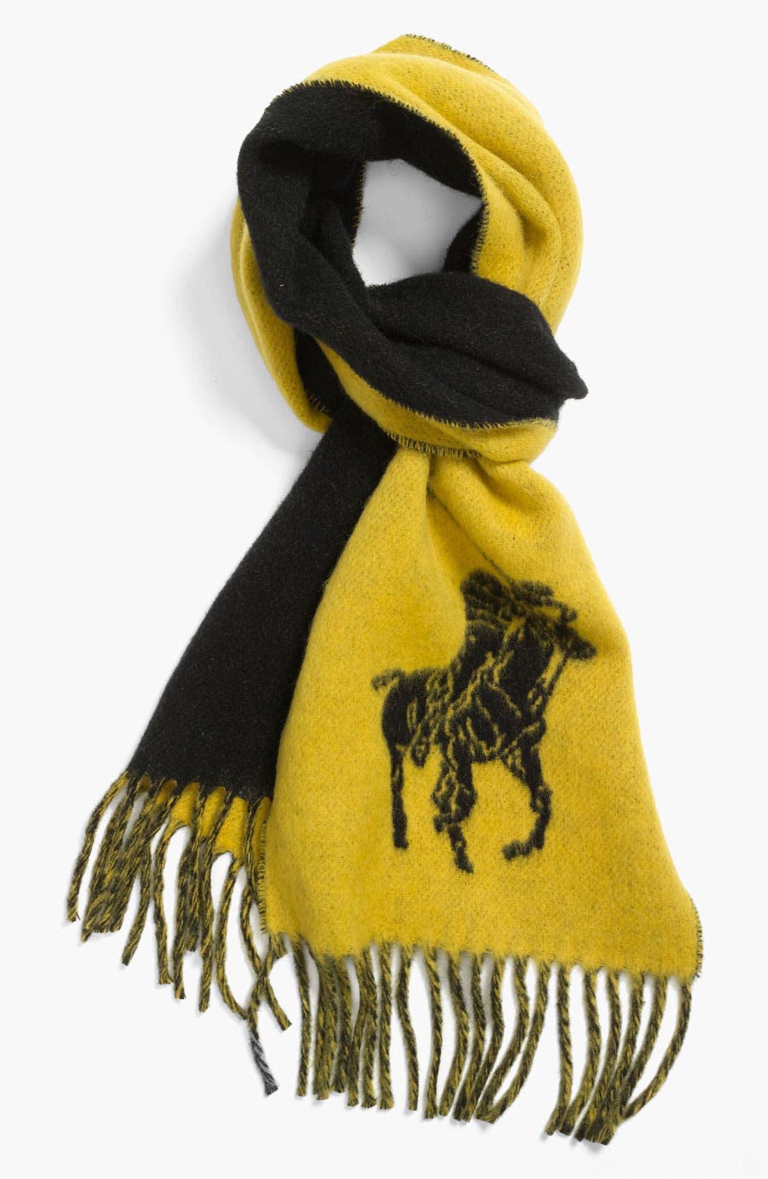 Main Image - Polo Ralph Lauren 'Big Pony' Wool Blend Scarf