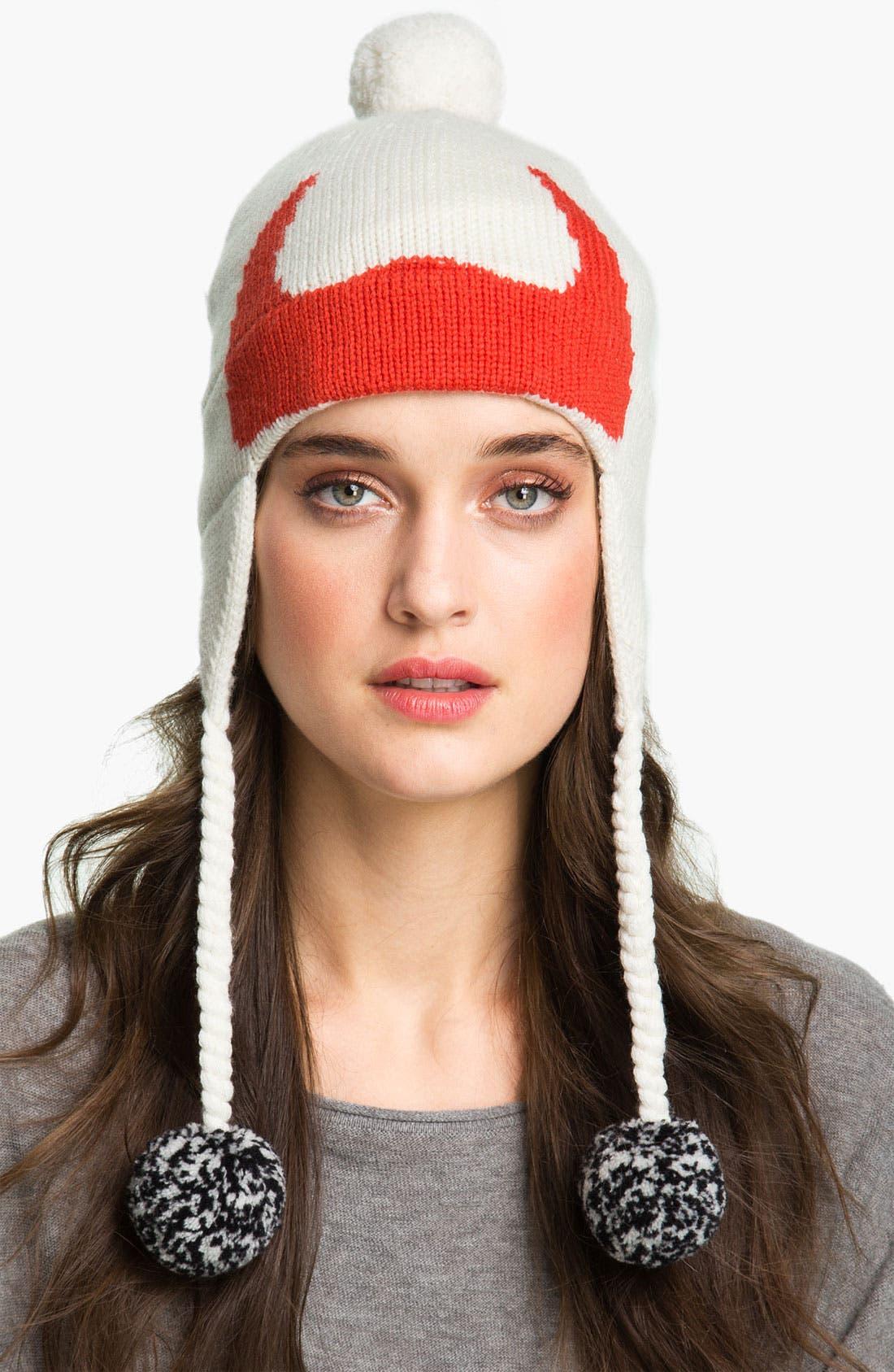 Alternate Image 1 Selected - kate spade new york 'big apple' merino wool ski hat