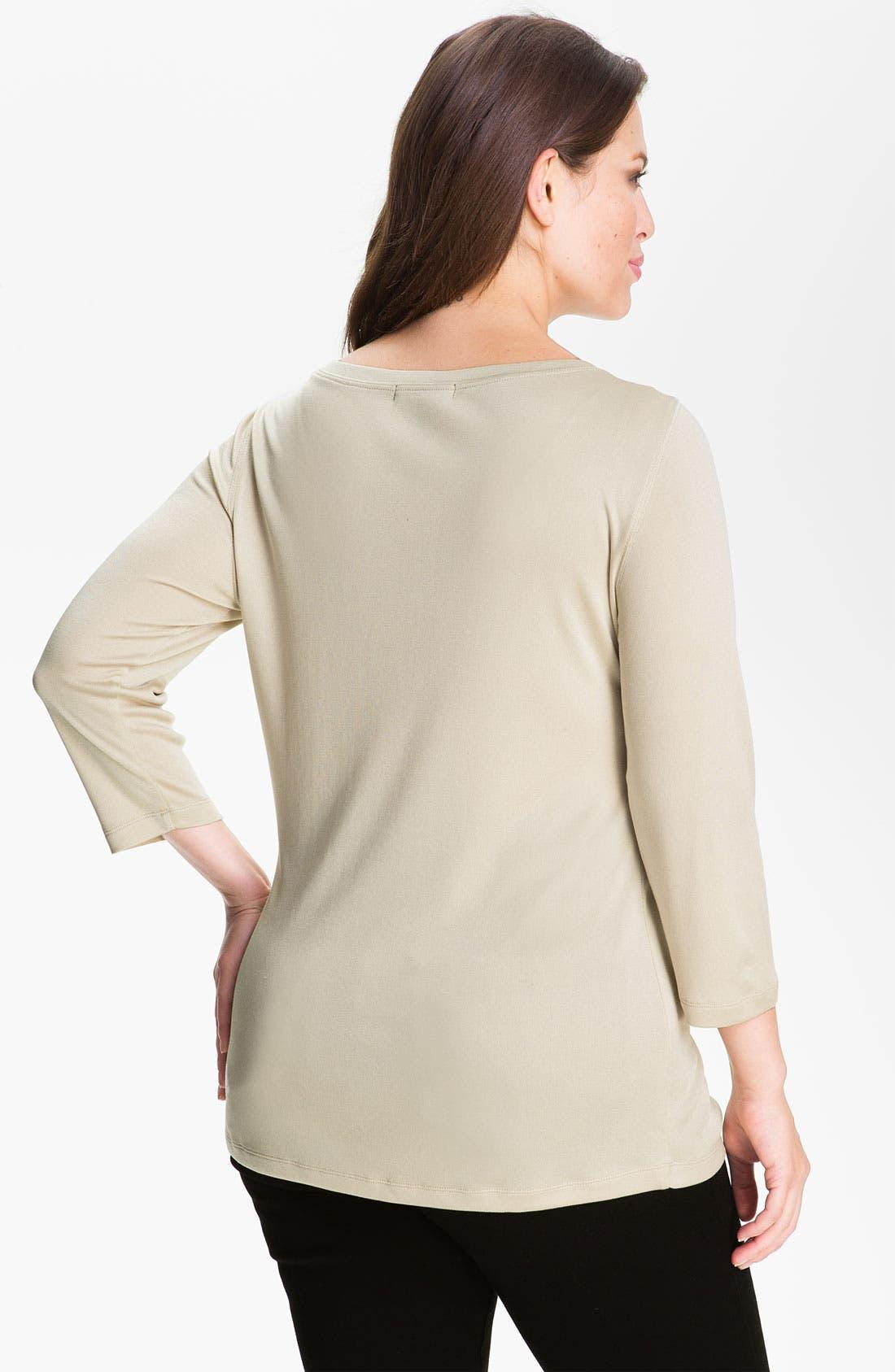 Alternate Image 2  - Louben Silk Blend Shell (Plus Size)