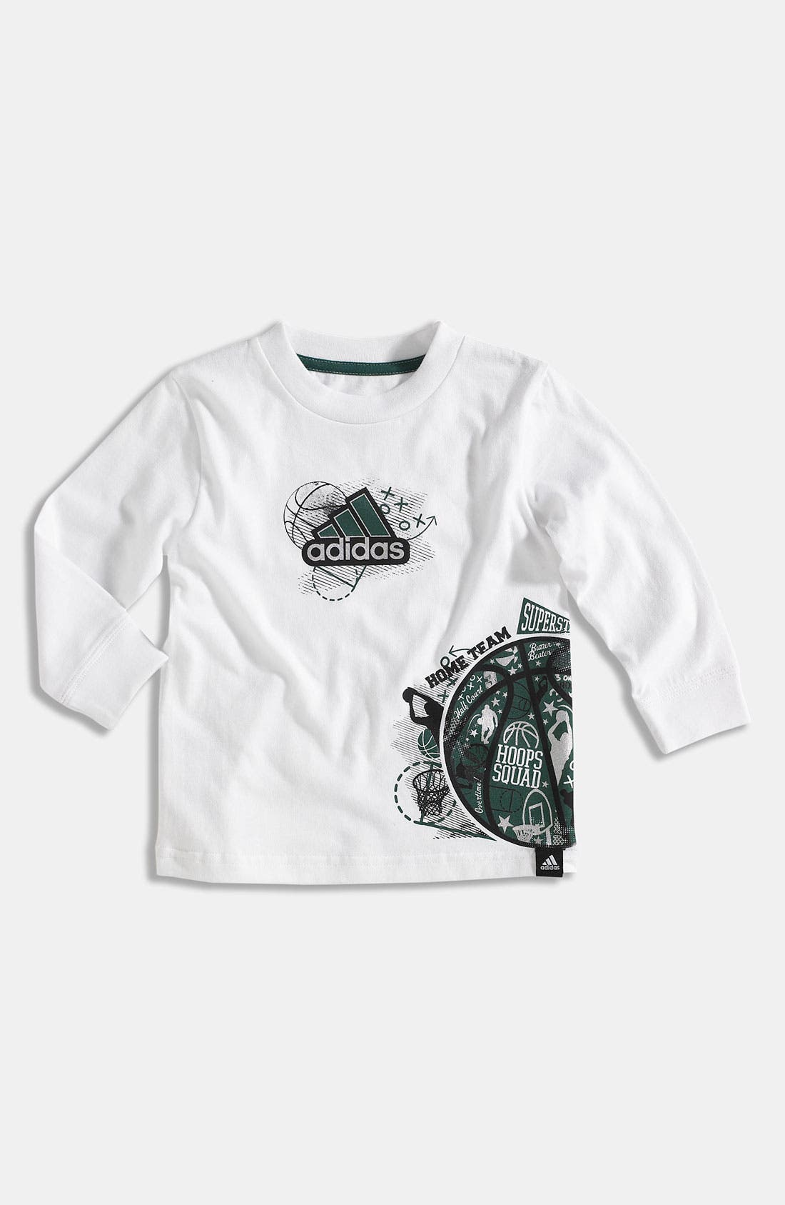 Alternate Image 1 Selected - adidas 'Playbook' T-Shirt (Toddler)