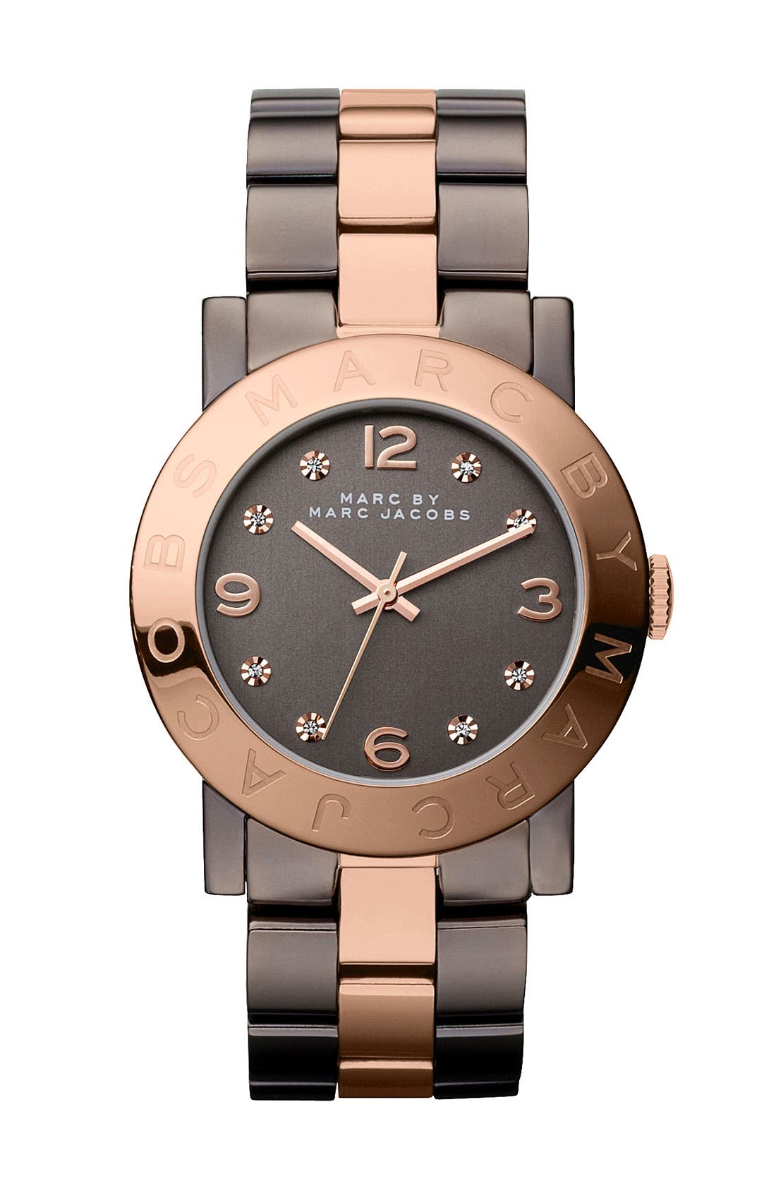 Alternate Image 1 Selected - MARC JACOBS 'Amy' Crystal Bracelet Watch, 36mm